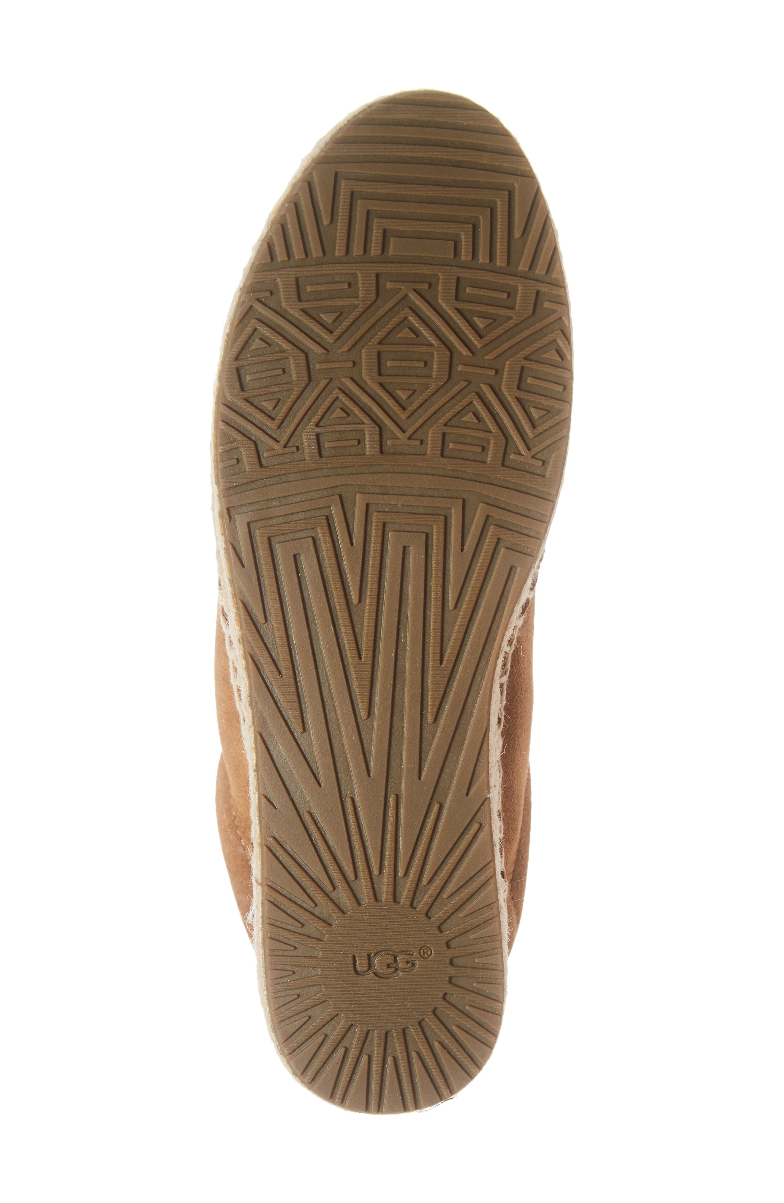UGG<SUP>®</SUP>, Brianna Sneaker, Alternate thumbnail 6, color, CHESTNUT SUEDE