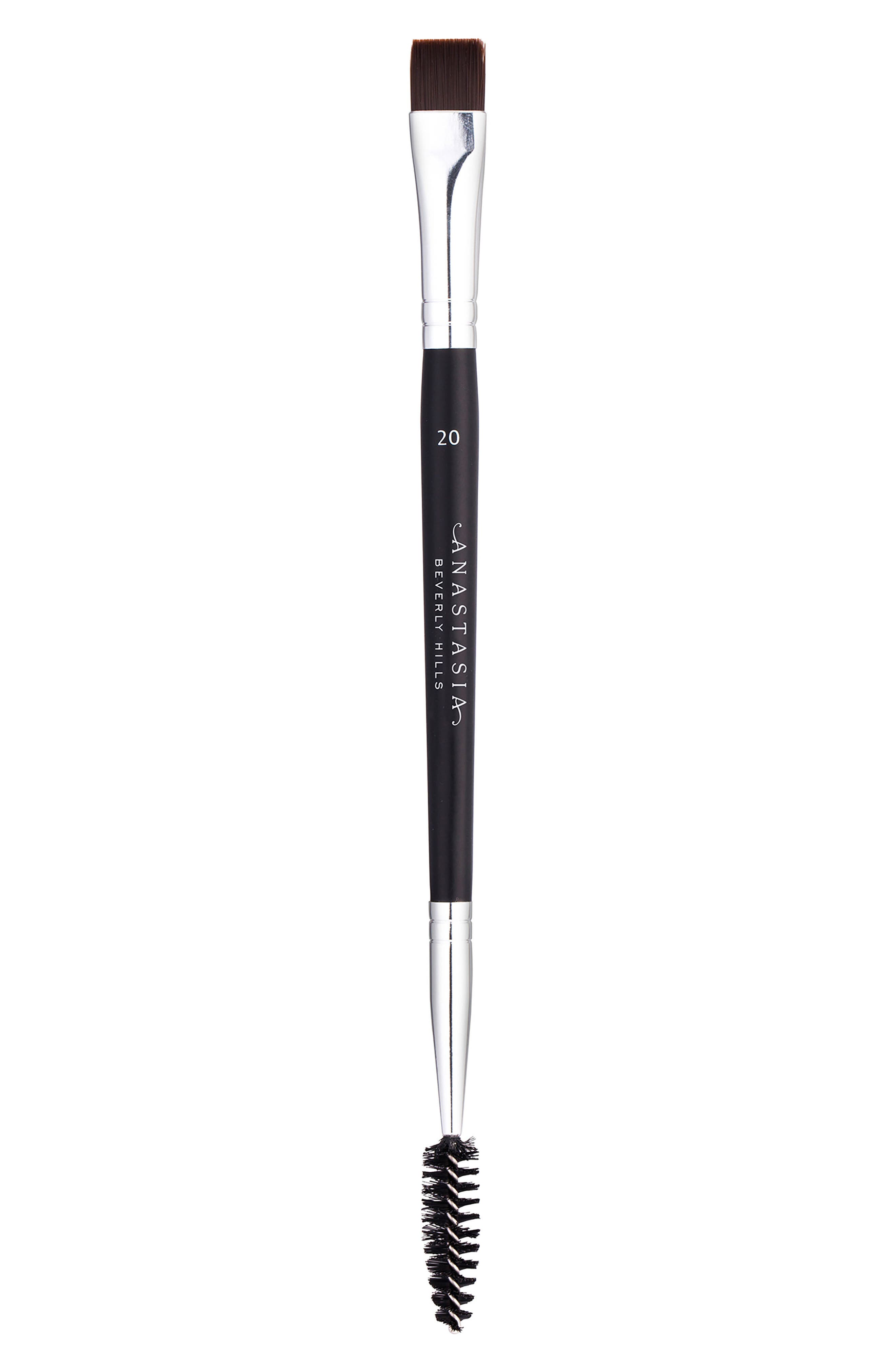 ANASTASIA BEVERLY HILLS, #20 Dual Ended Brow & Eyeliner Brush, Main thumbnail 1, color, NO COLOR