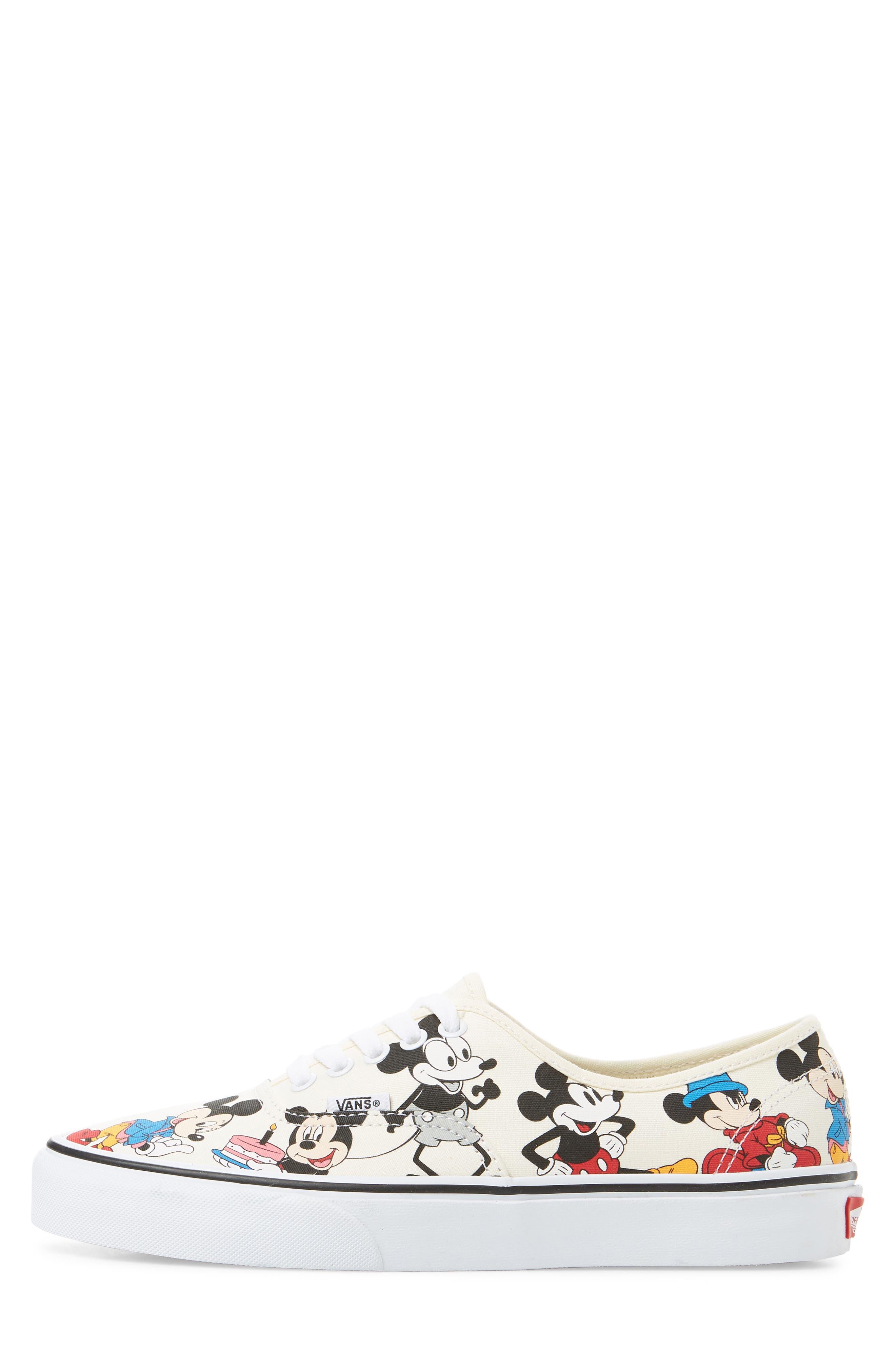 VANS, x Disney Authentic Low Top Sneaker, Alternate thumbnail 3, color, 250