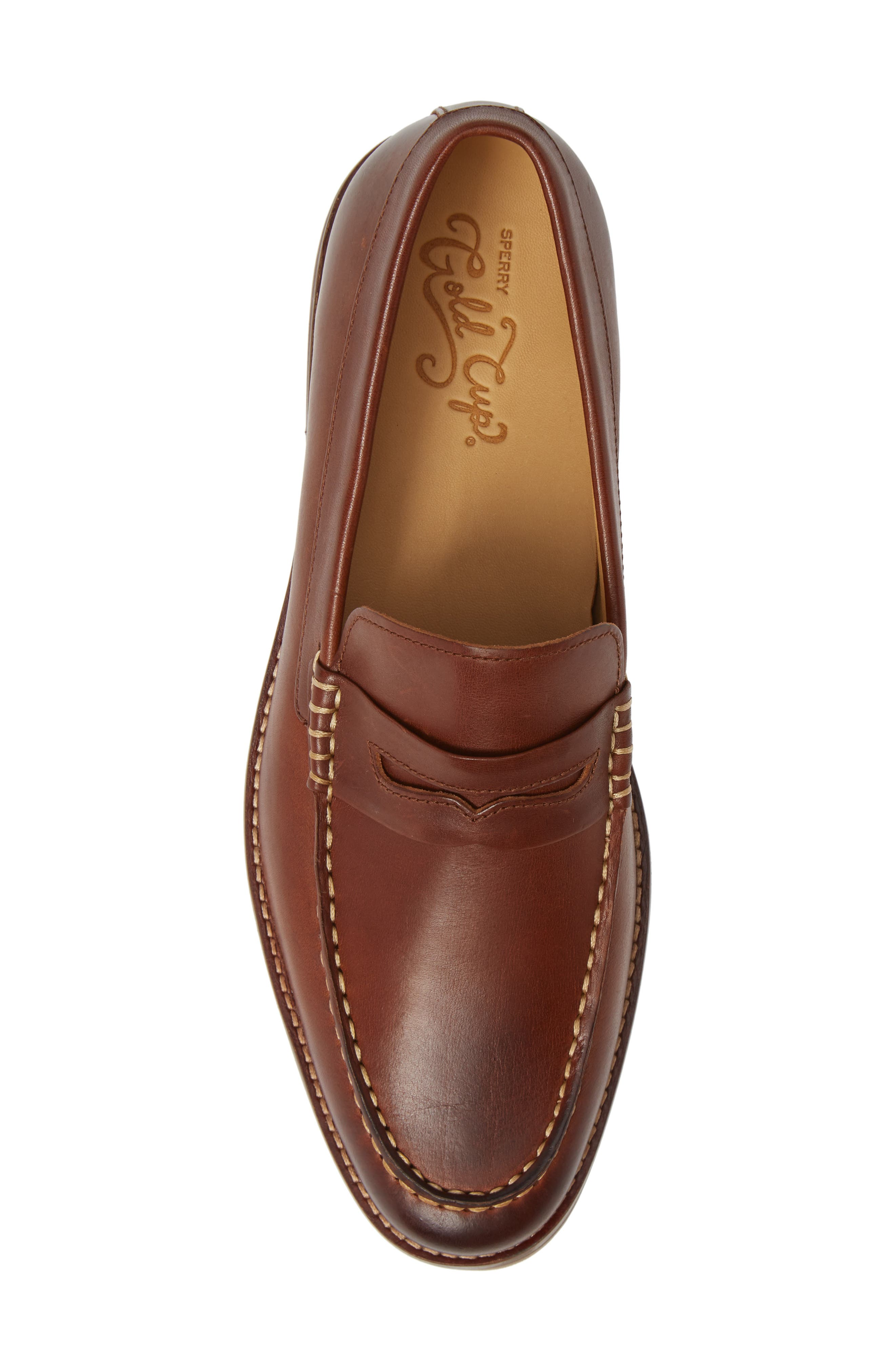 SPERRY, Gold Cup Exeter Penny Loafer, Alternate thumbnail 5, color, TAN