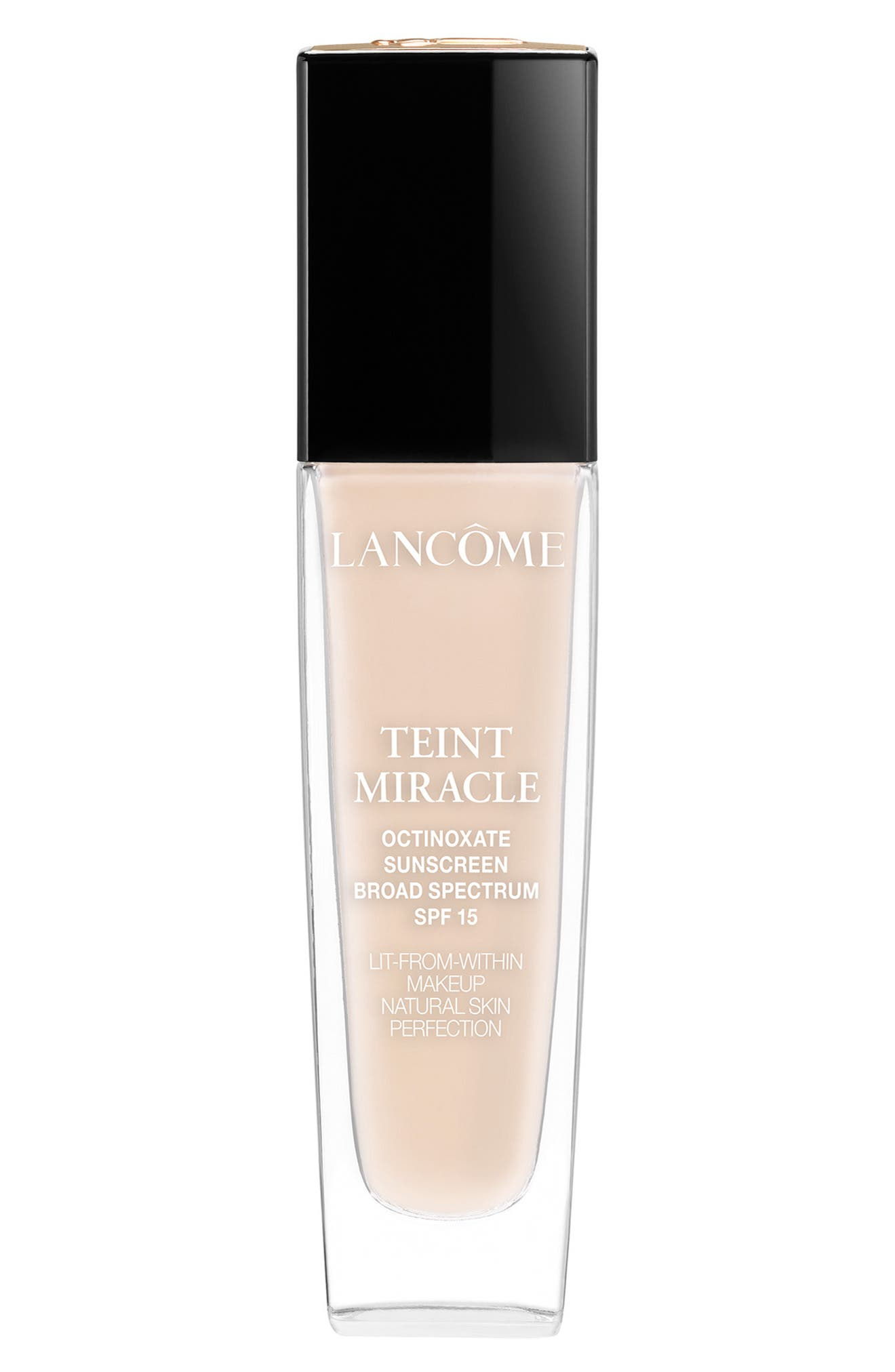 LANCÔME, Teint Miracle Lit-from-Within Makeup Natural Skin Perfection SPF 15, Main thumbnail 1, color, BUFF 2 (W)