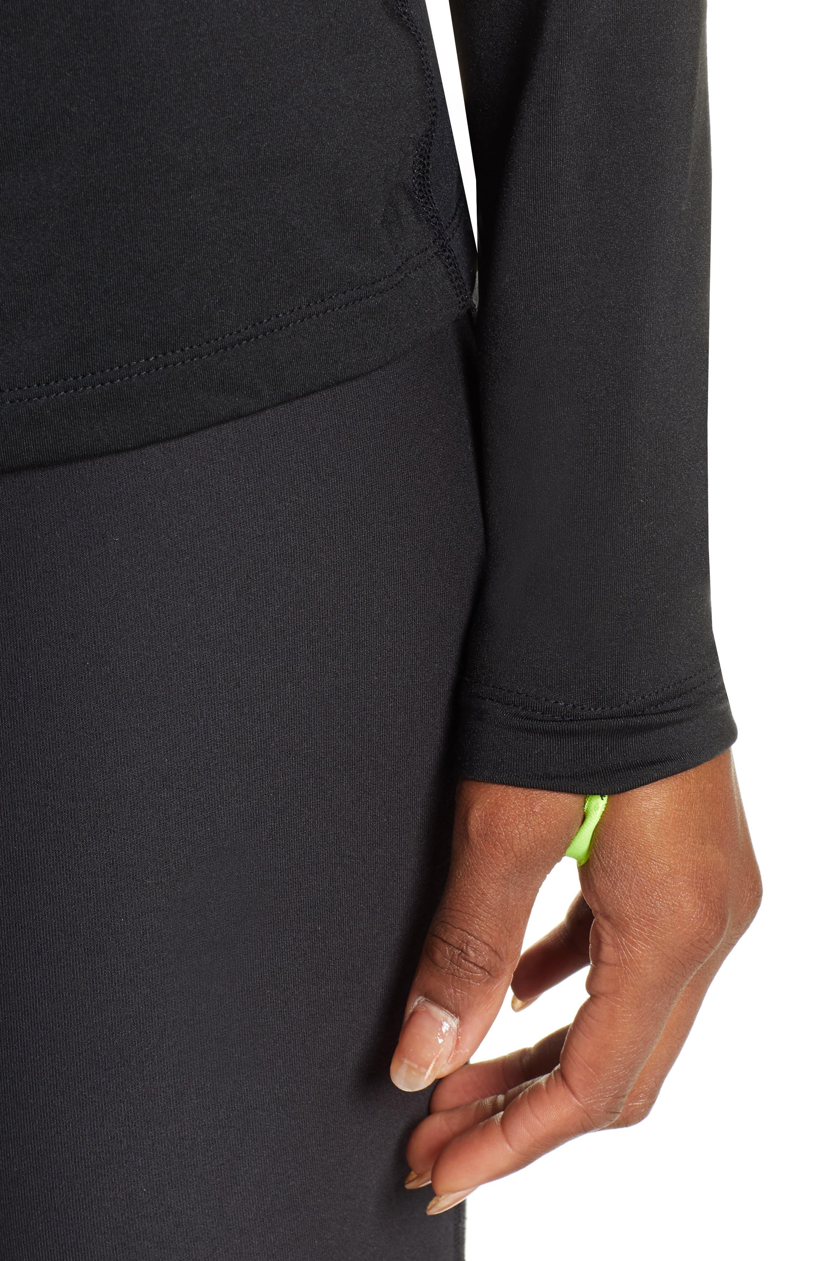 NIKE, Element Long-Sleeve Running Top, Alternate thumbnail 5, color, BLACK
