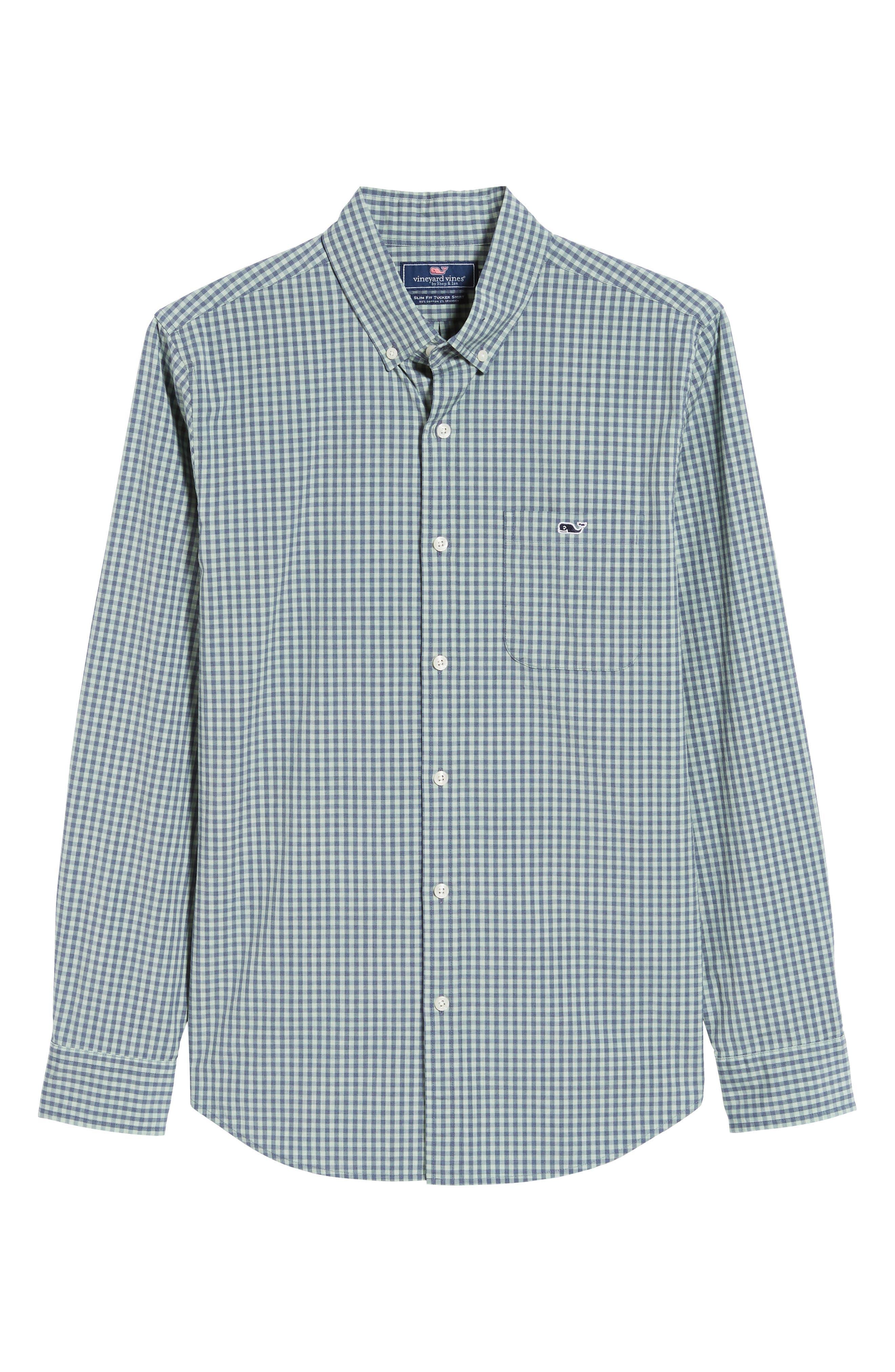 VINEYARD VINES, Gingham Check Sport Shirt, Alternate thumbnail 5, color, 362
