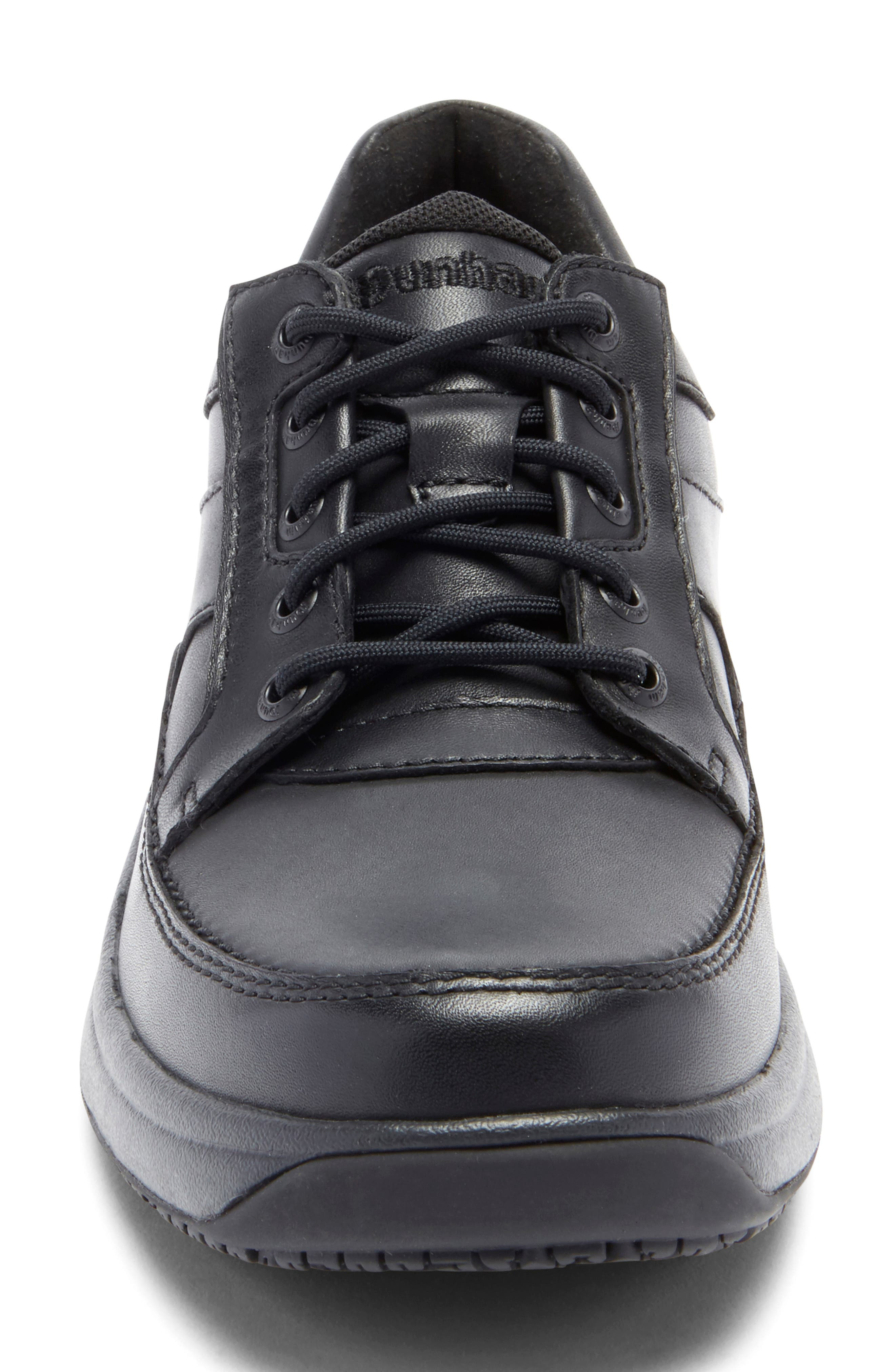 DUNHAM, 'Midland' Sneaker, Alternate thumbnail 4, color, BLACK LEATHER