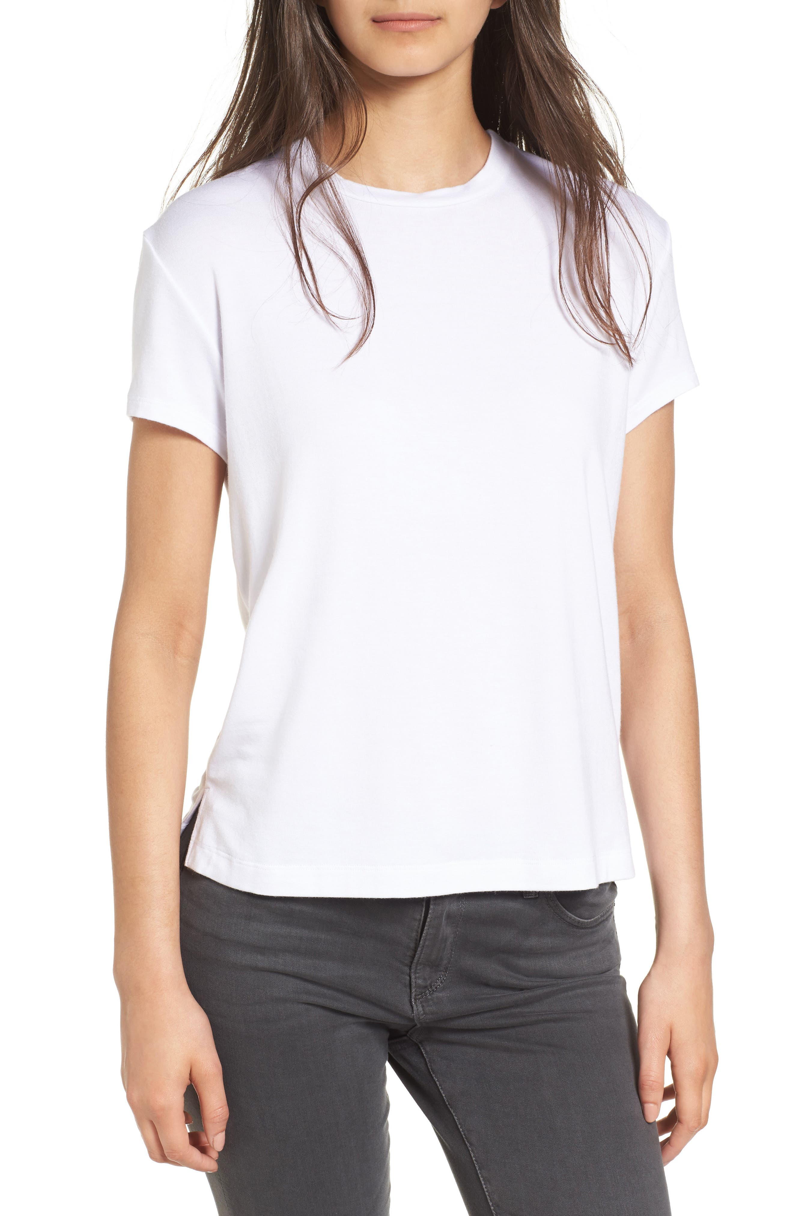 AMOUR VERT Casey Tee, Main, color, WHITE