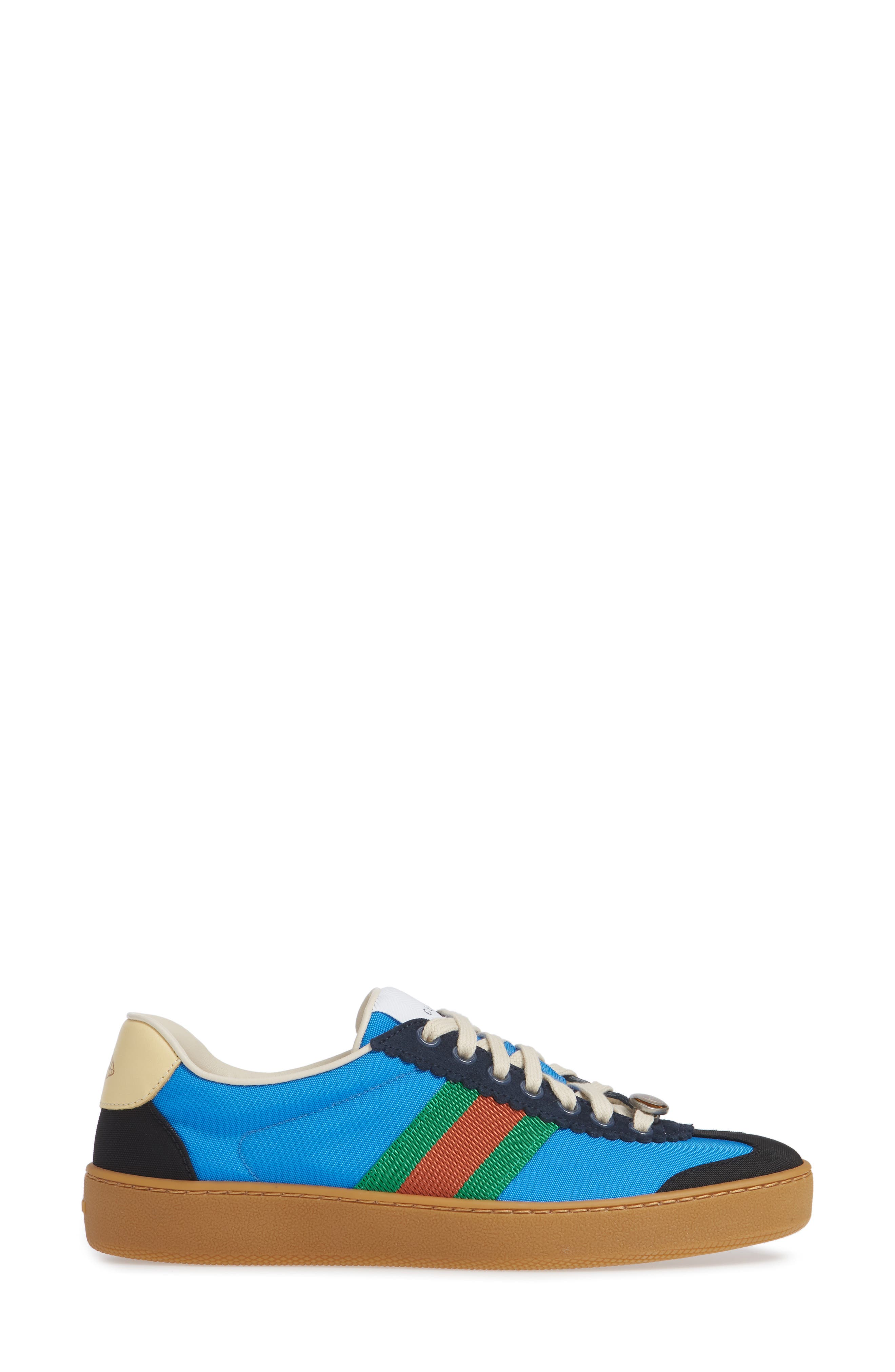 GUCCI, G74 Low Top Sneaker, Alternate thumbnail 3, color, 400
