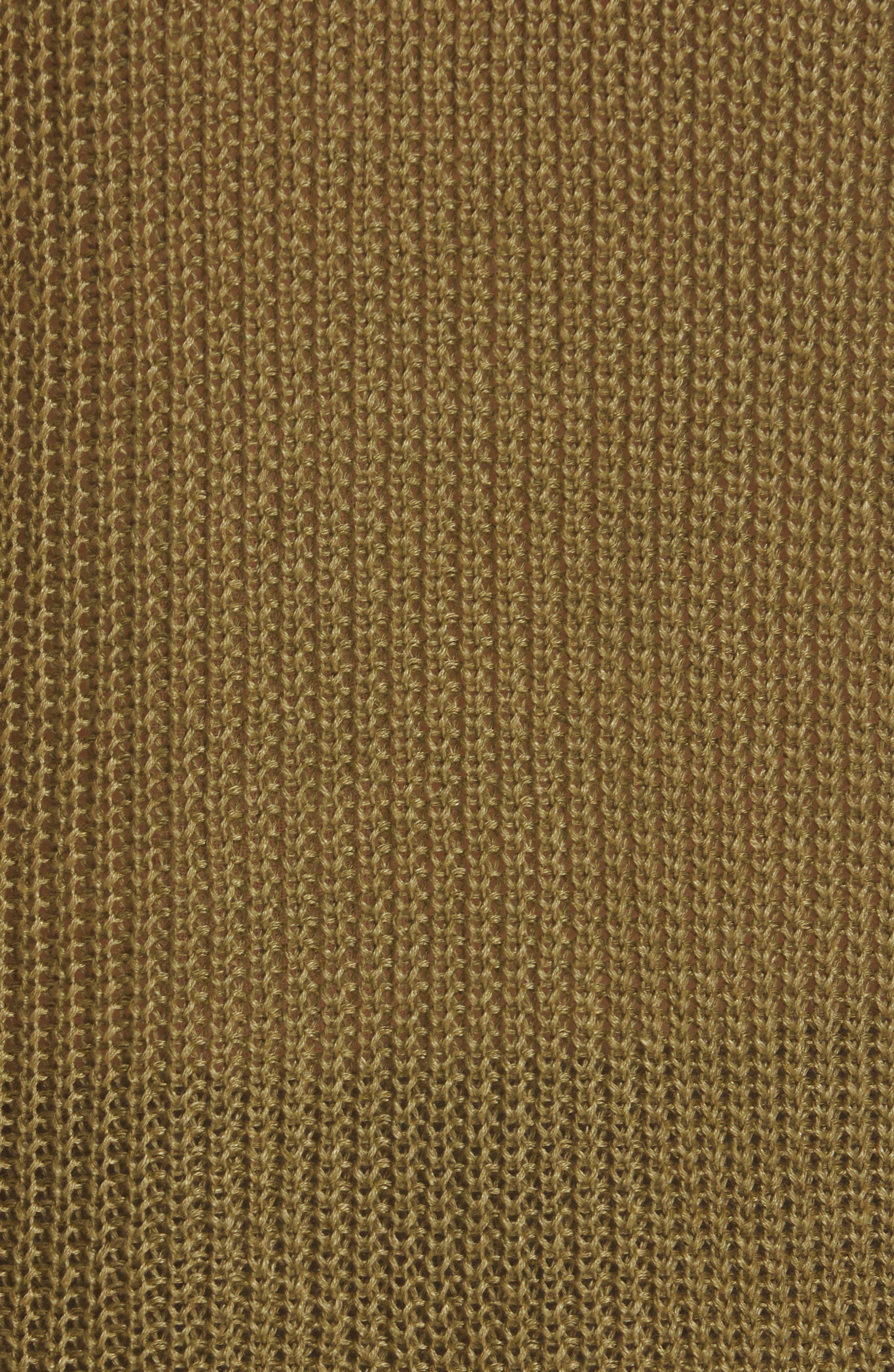 NILI LOTAN, Nala Linen Sweater Tank, Alternate thumbnail 5, color, OLIVE