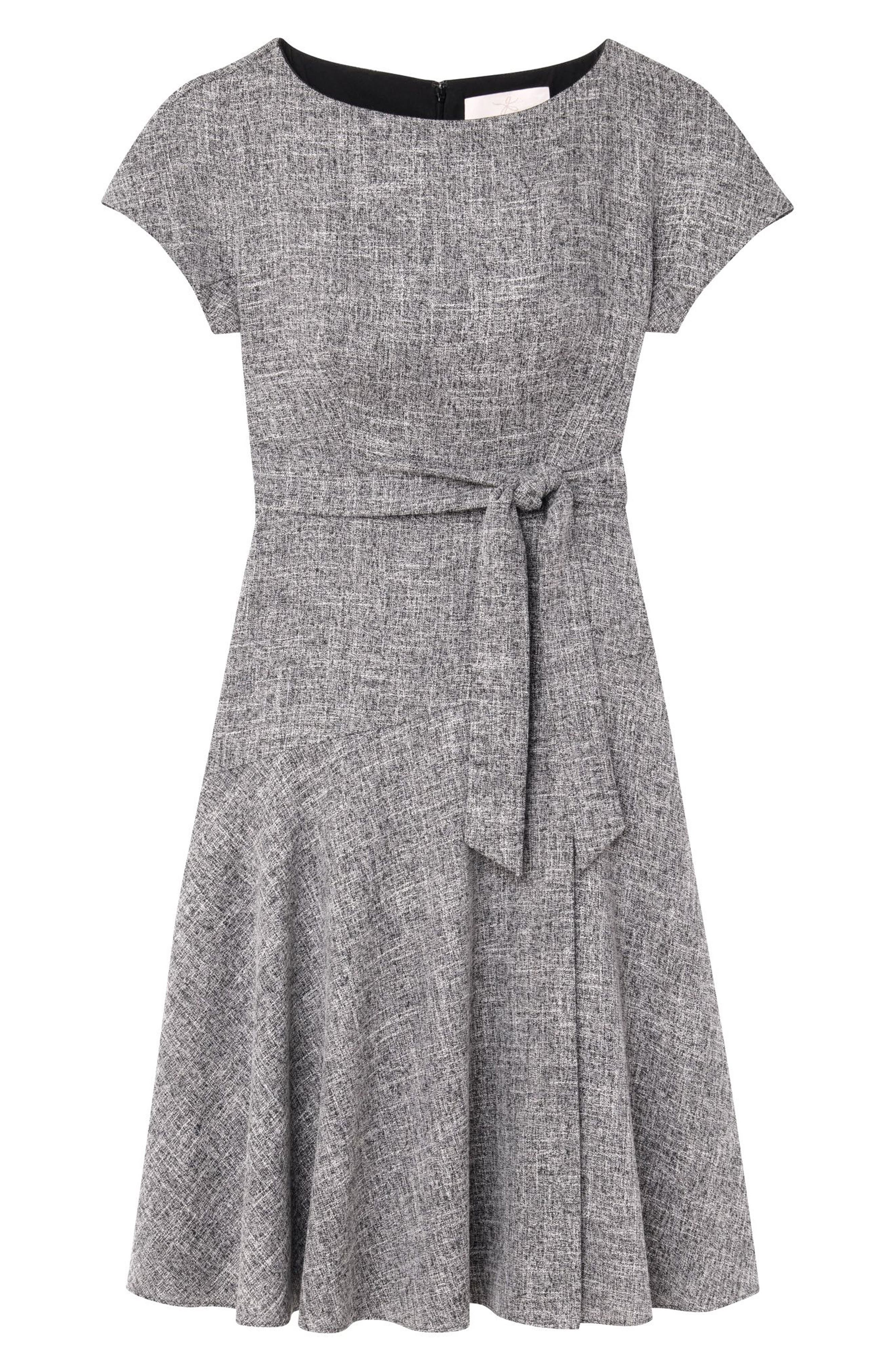 GAL MEETS GLAM COLLECTION, Barbara Yarn Dyed Boat Neck Dress, Alternate thumbnail 5, color, 060