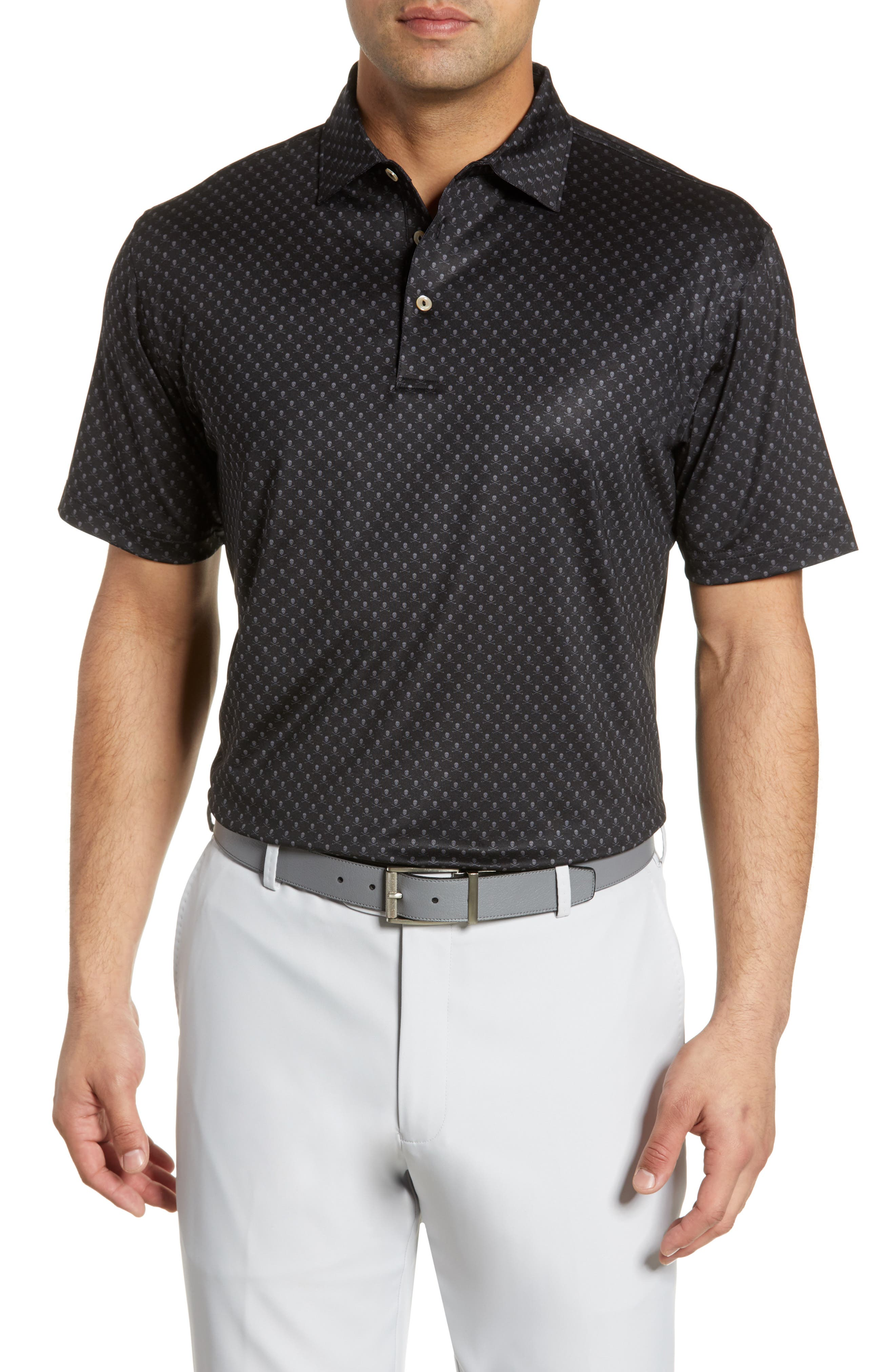PETER MILLAR, Cottage Classic Fit Performance Polo, Main thumbnail 1, color, 001
