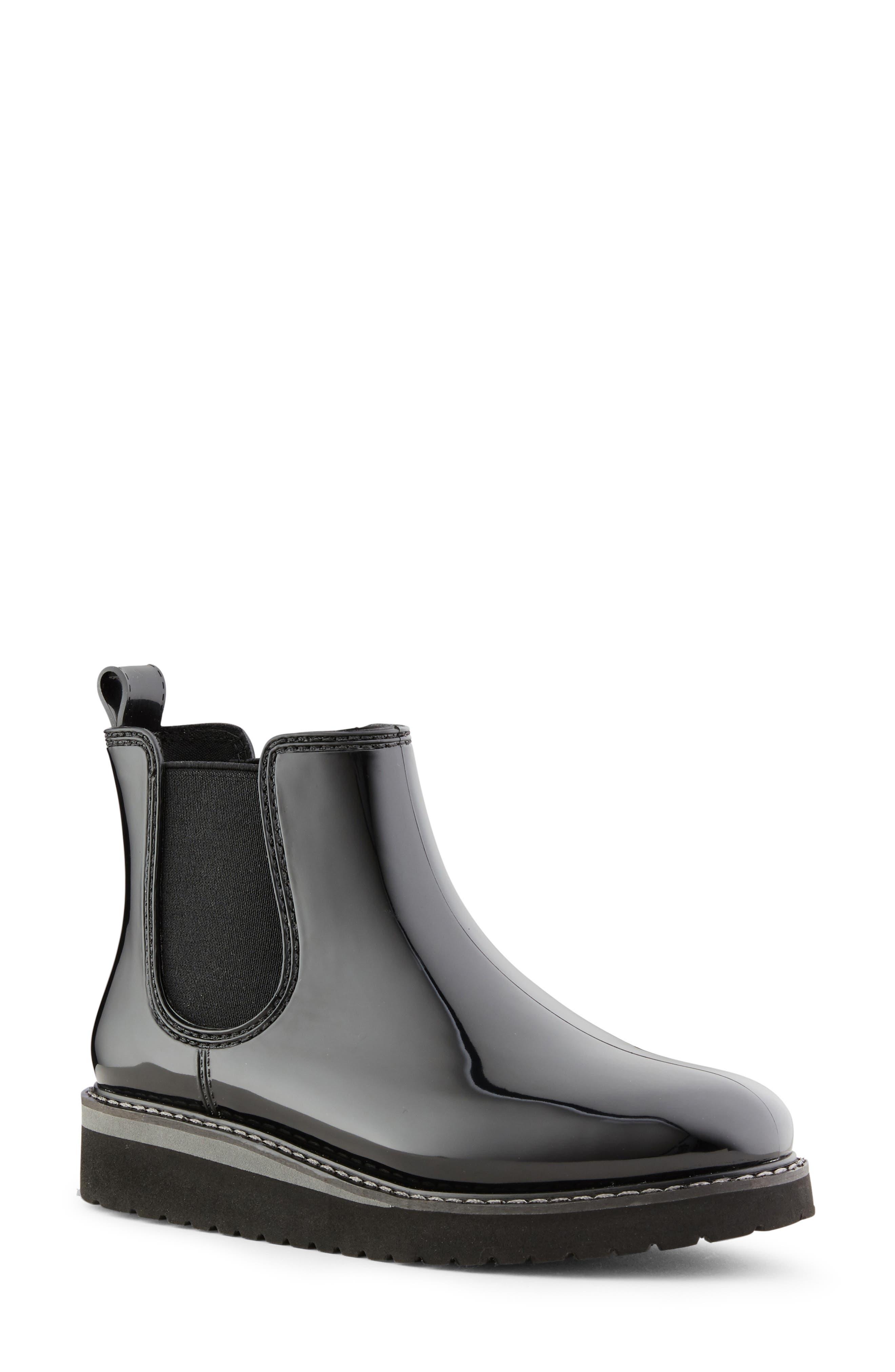 COUGAR, Kensington Chelsea Rain Boot, Main thumbnail 1, color, BLACK/ CHARCOAL