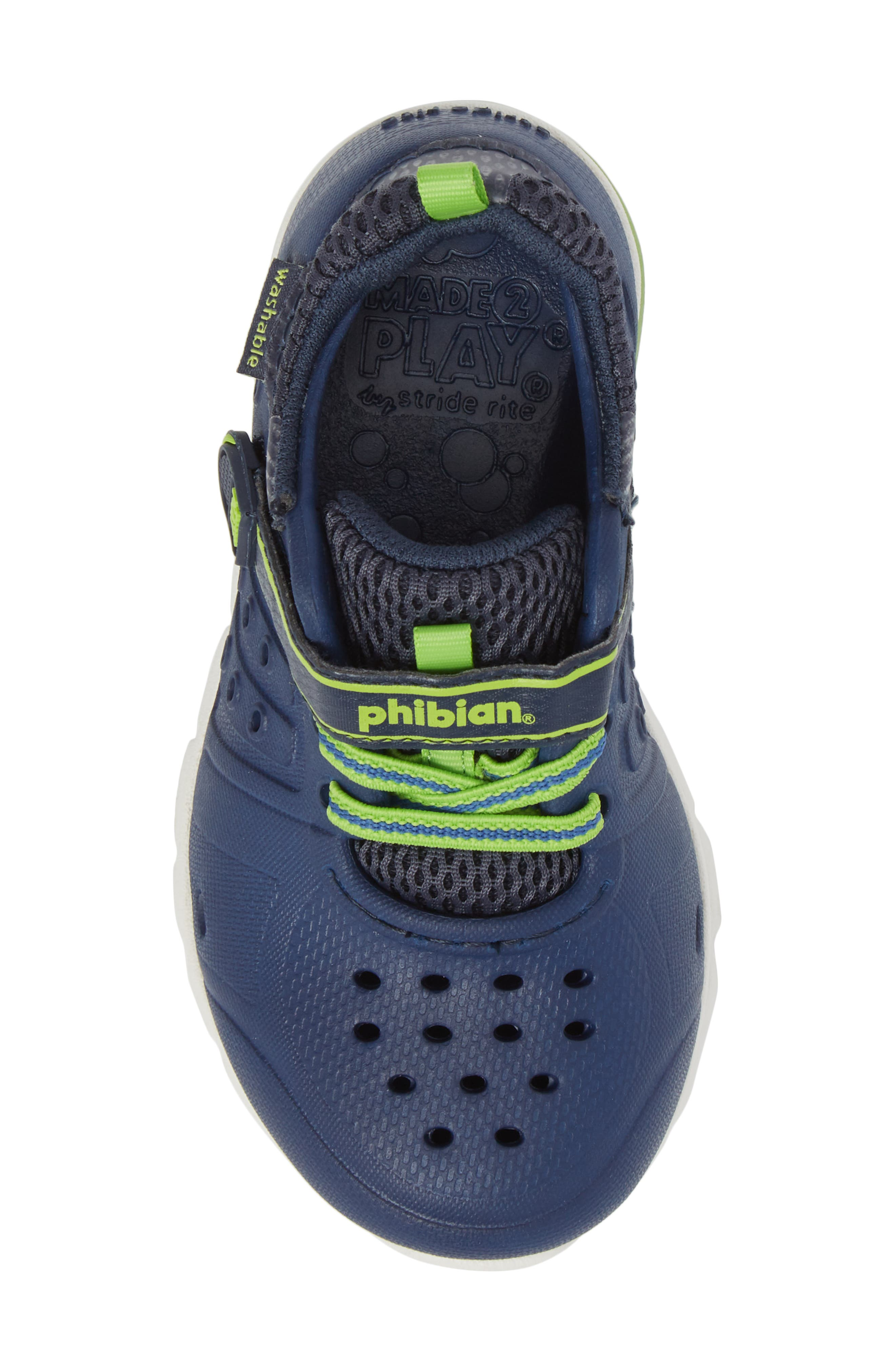 STRIDE RITE, Made2Play<sup>®</sup> Phibian Light-Up Sneaker, Alternate thumbnail 5, color, NAVY