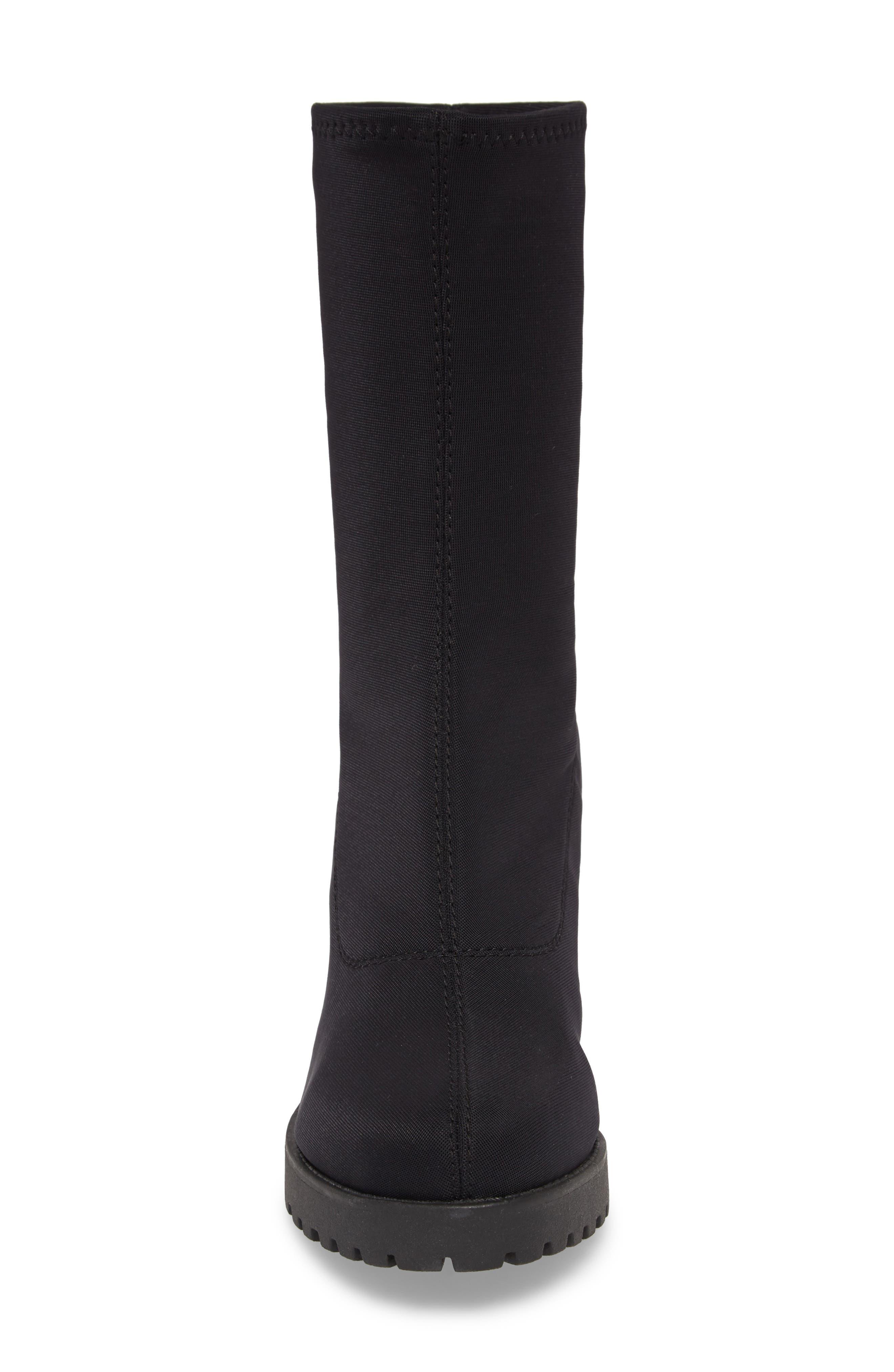 VAGABOND, Shoemakers Grace Platform Bootie, Alternate thumbnail 4, color, BLACK FABRIC