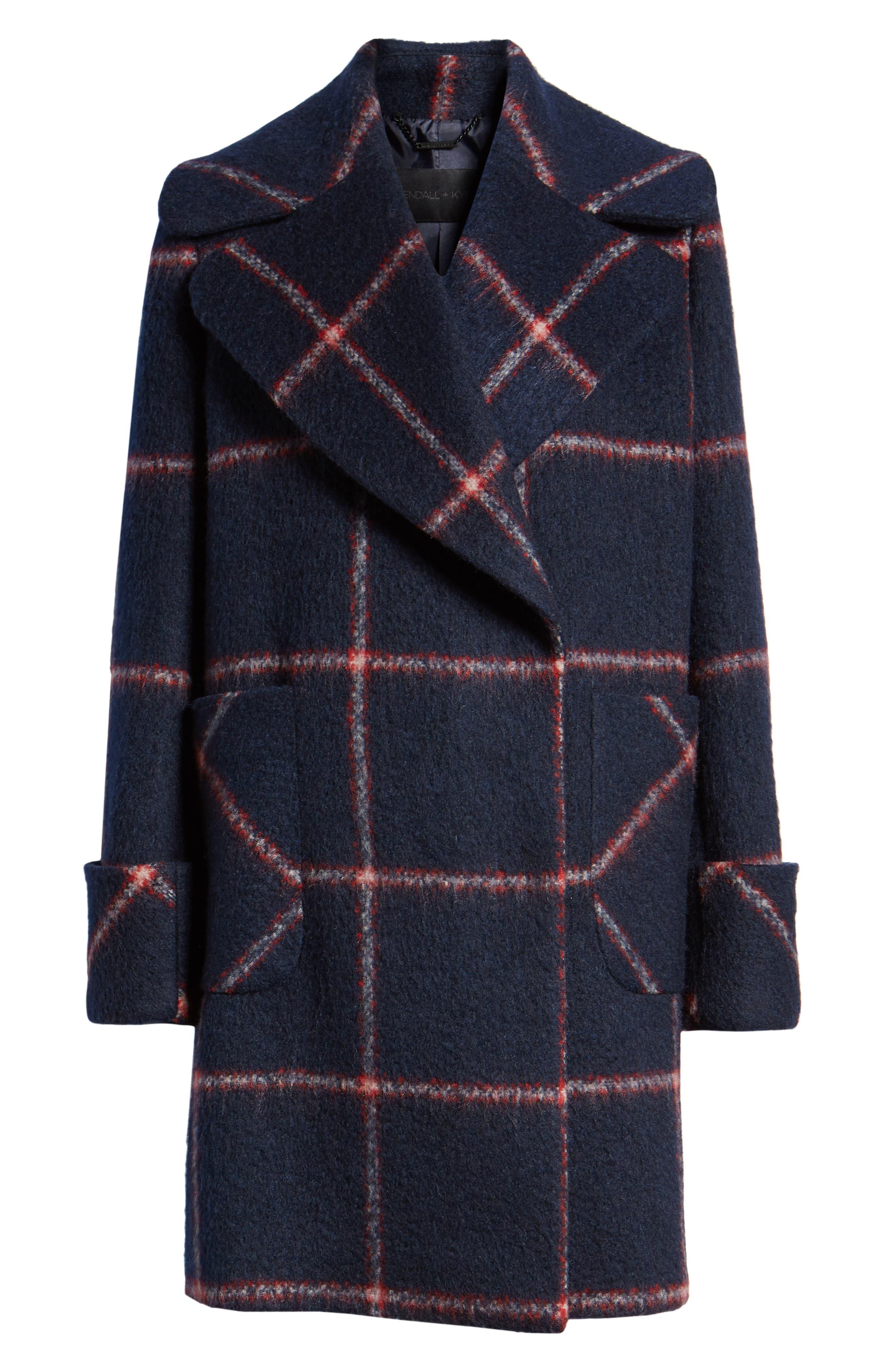 KENDALL + KYLIE, Oversize Collar Coat, Alternate thumbnail 5, color, 427