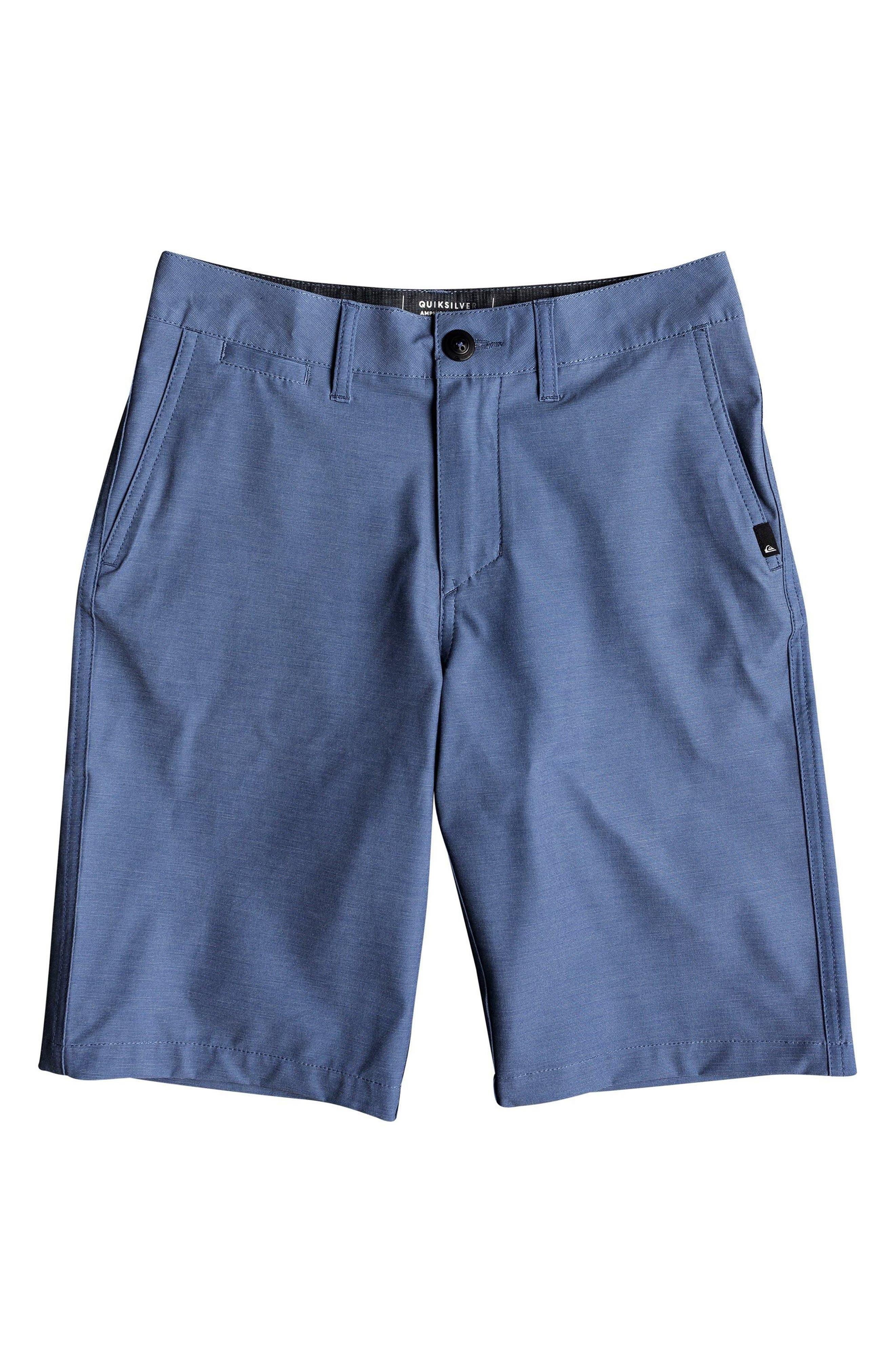 QUIKSILVER Union Heather Amphibian Hybrid Shorts, Main, color, BIJOU BLUE