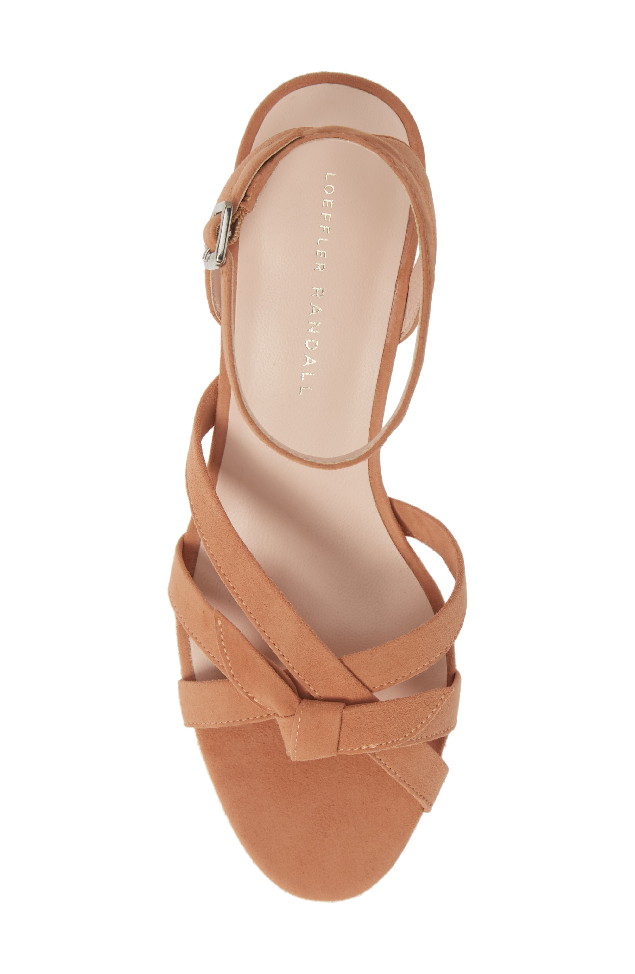 LOEFFLER RANDALL, Anny Knotted Sandal, Alternate thumbnail 5, color, COQUILLE