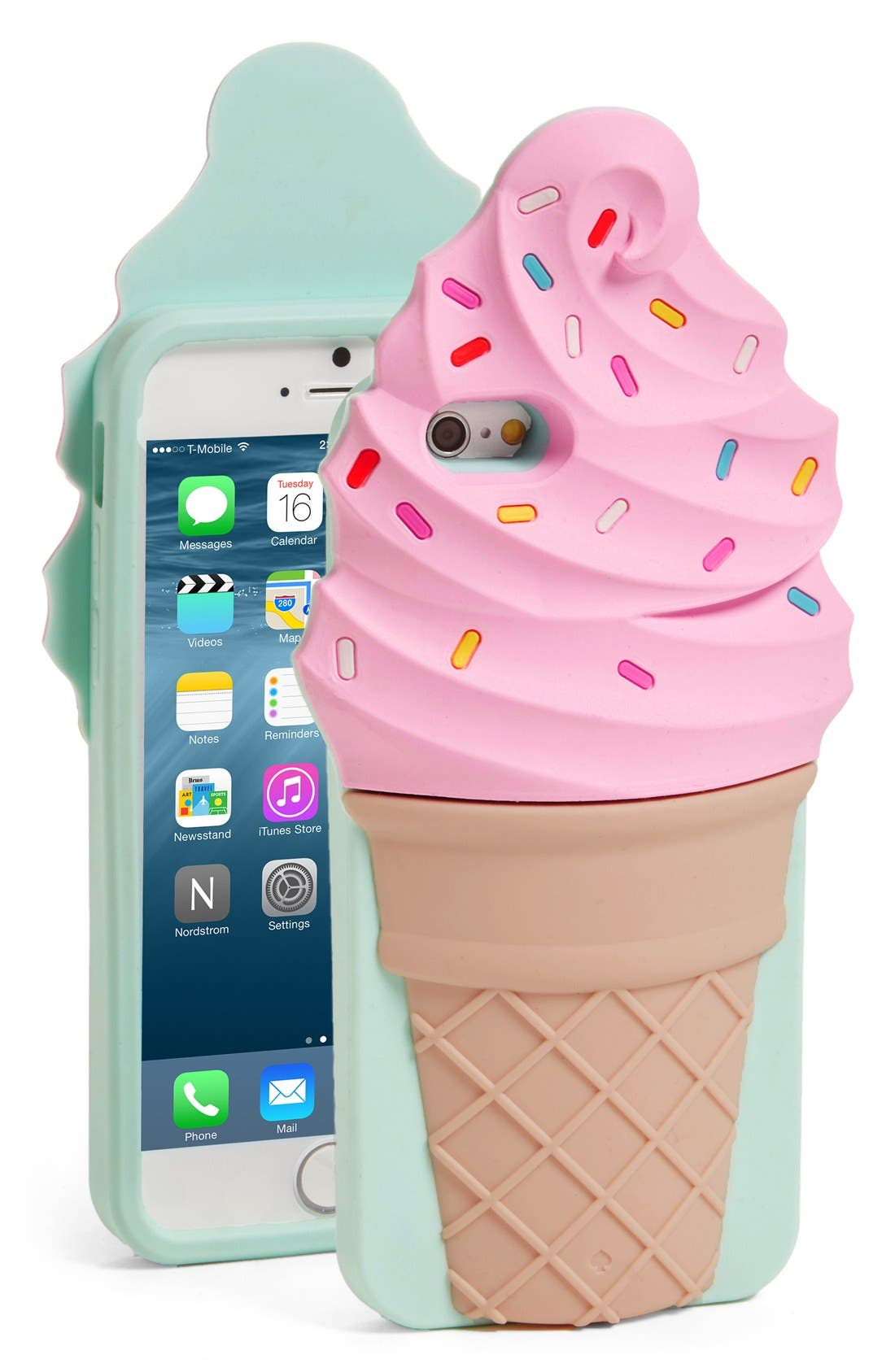 KATE SPADE NEW YORK, 'ice cream' iPhone 6 & 6s case, Main thumbnail 1, color, 650