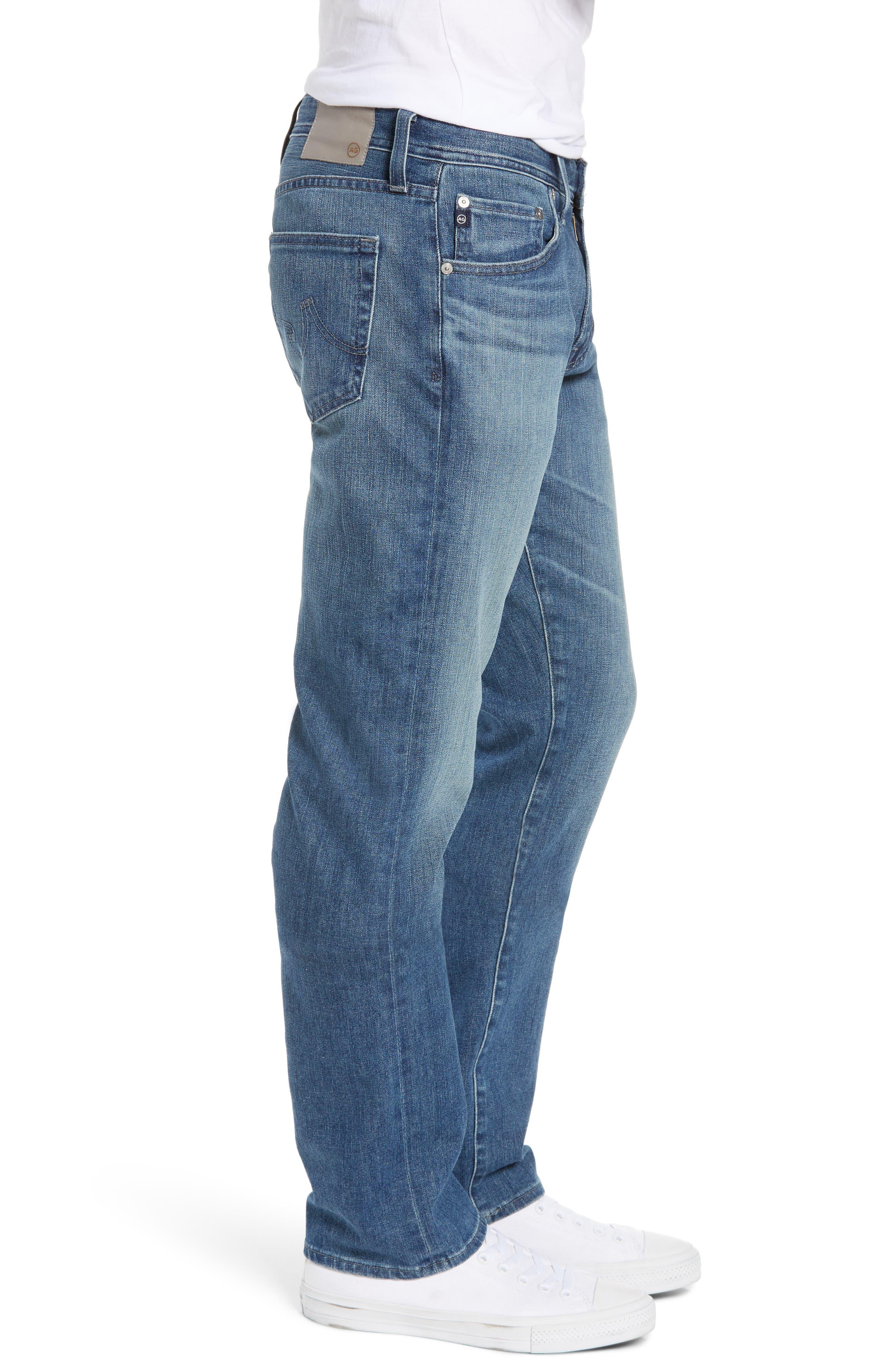 AG, Graduate Slim Straight Leg Jeans, Alternate thumbnail 4, color, APERTURE