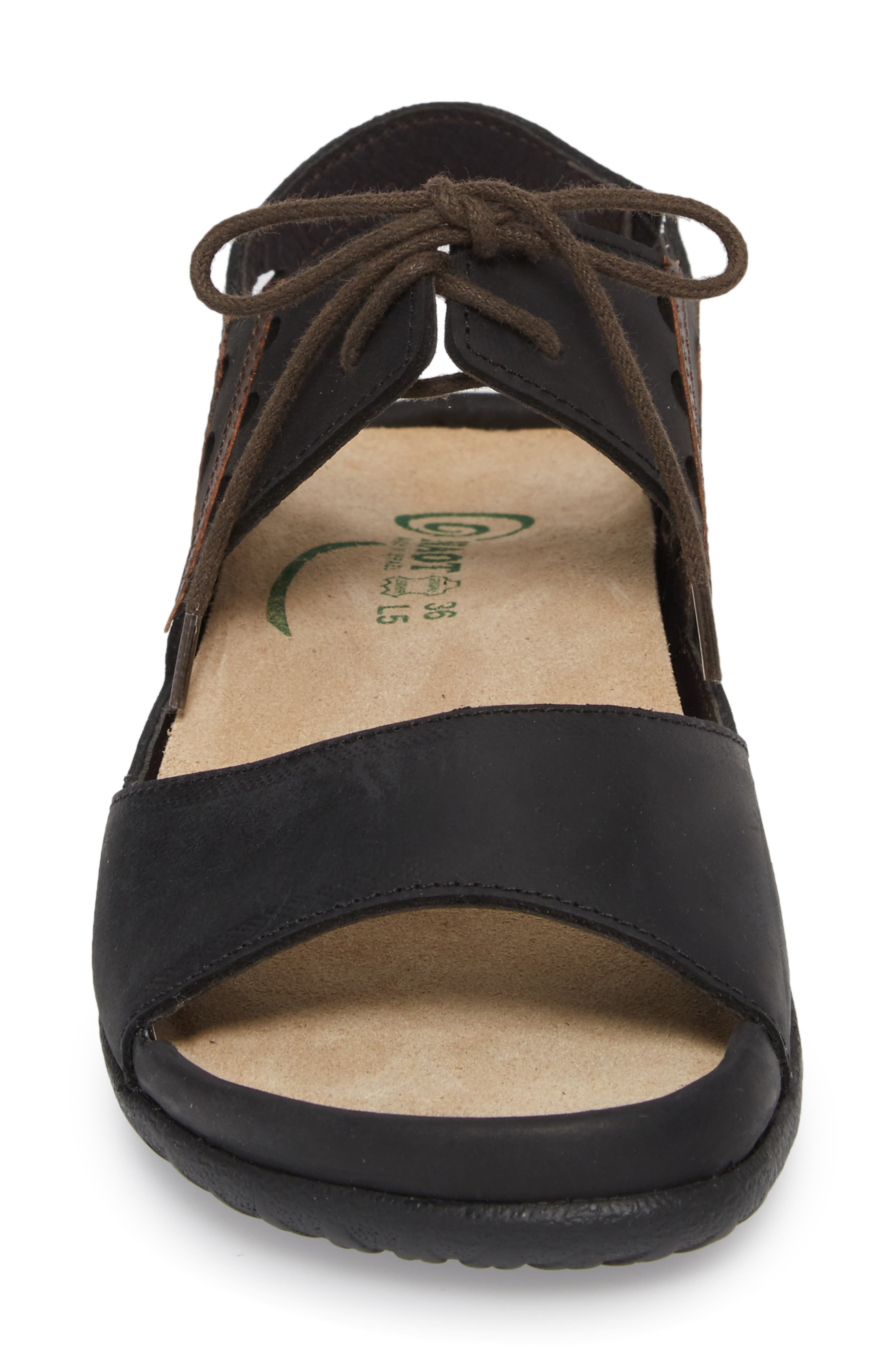 NAOT, Mangere Sandal, Alternate thumbnail 4, color, OILY COAL NUBUCK