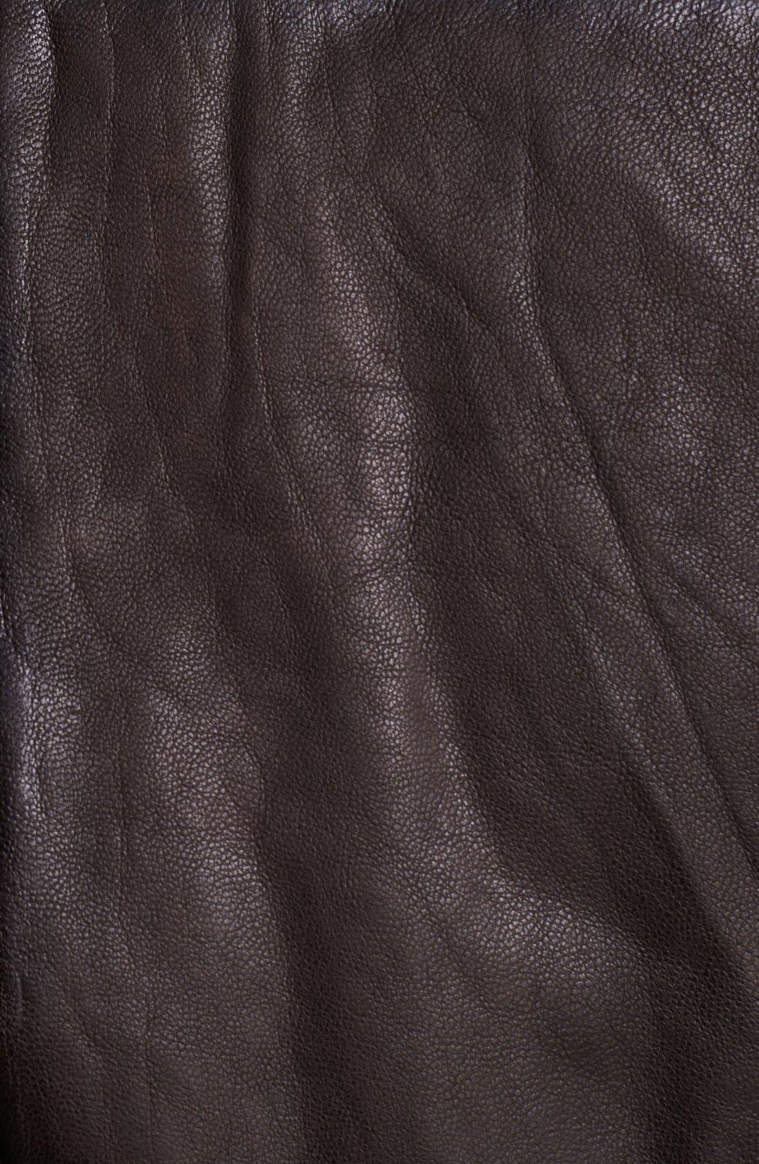 JACK SPADE, 'Huxley' Leather Bomber Jacket, Alternate thumbnail 2, color, 200