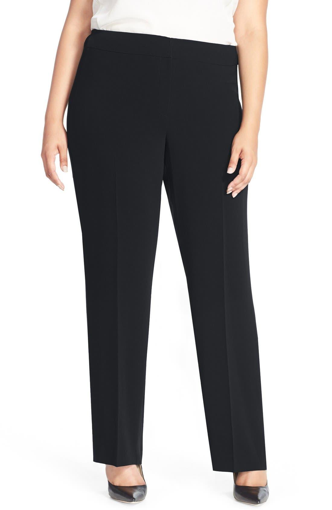 LOUBEN Straight Leg Suit Pants, Main, color, NAVY