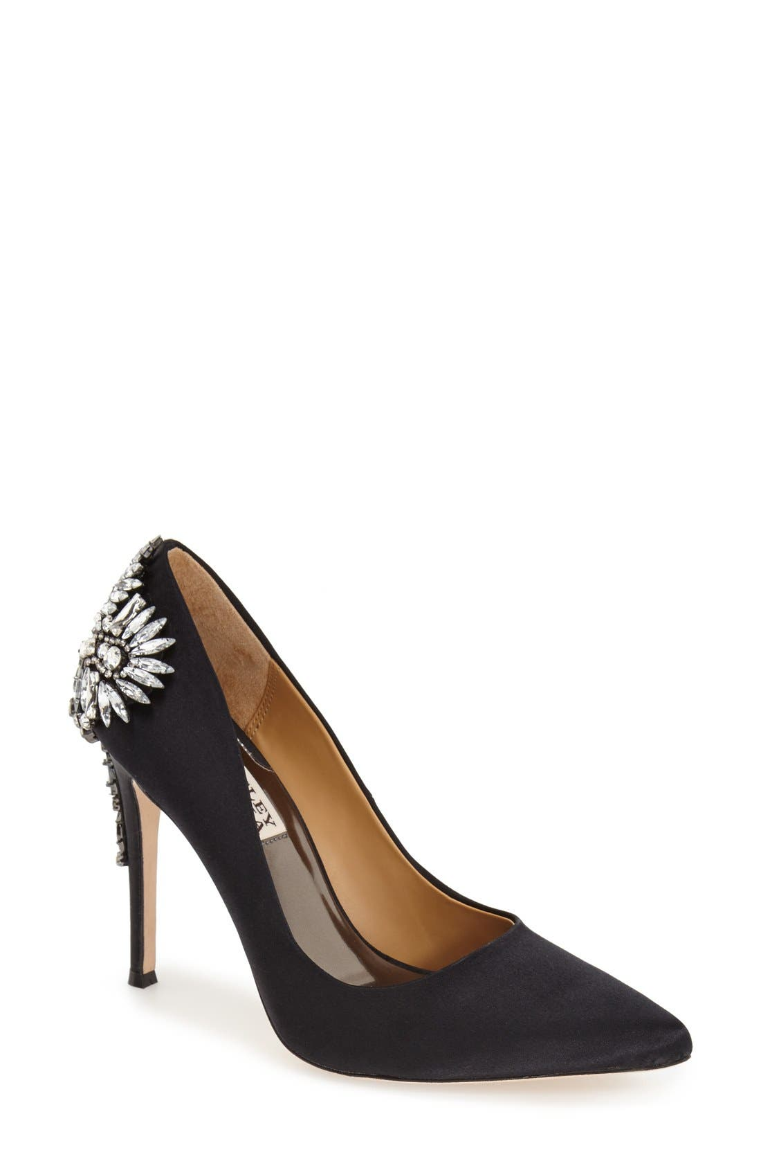 BADGLEY MISCHKA COLLECTION, Badgley Mischka 'Poetry' Pump, Main thumbnail 1, color, 001