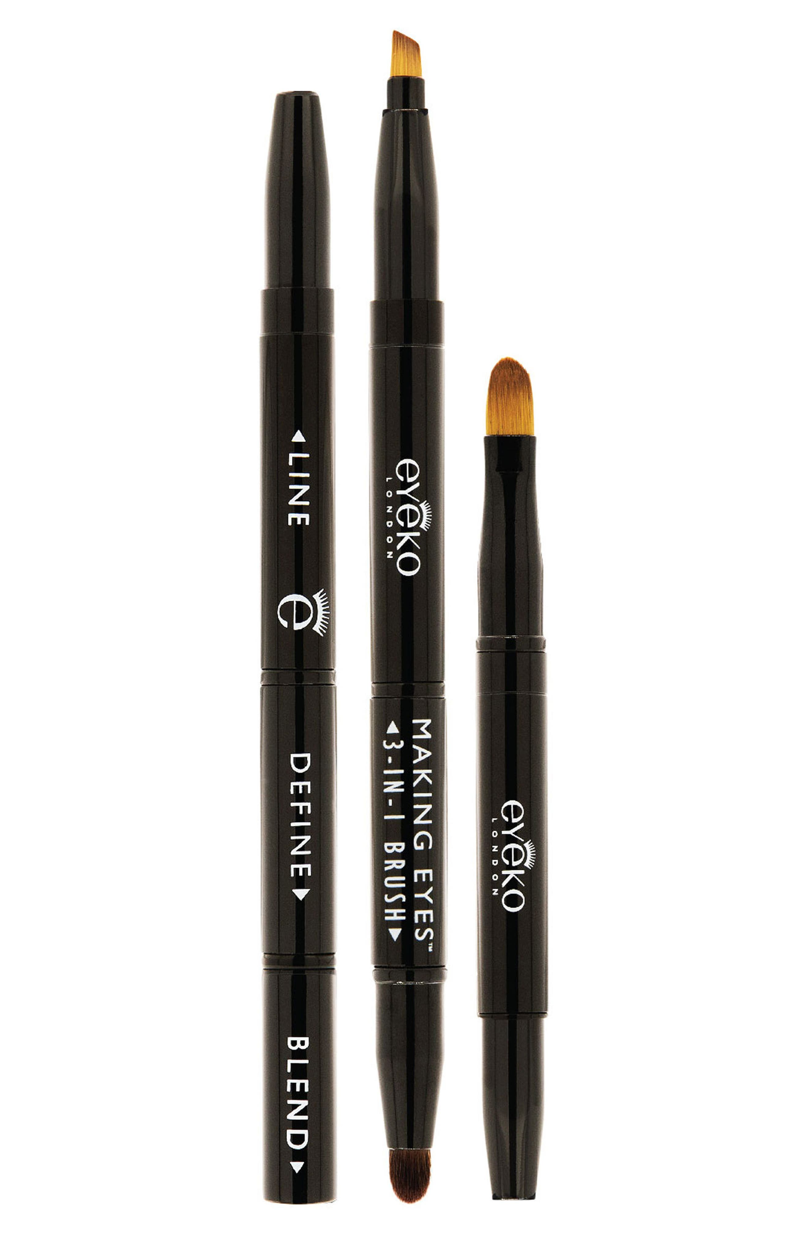 EYEKO, Making Eyes 3-in-1 Brush, Main thumbnail 1, color, 000