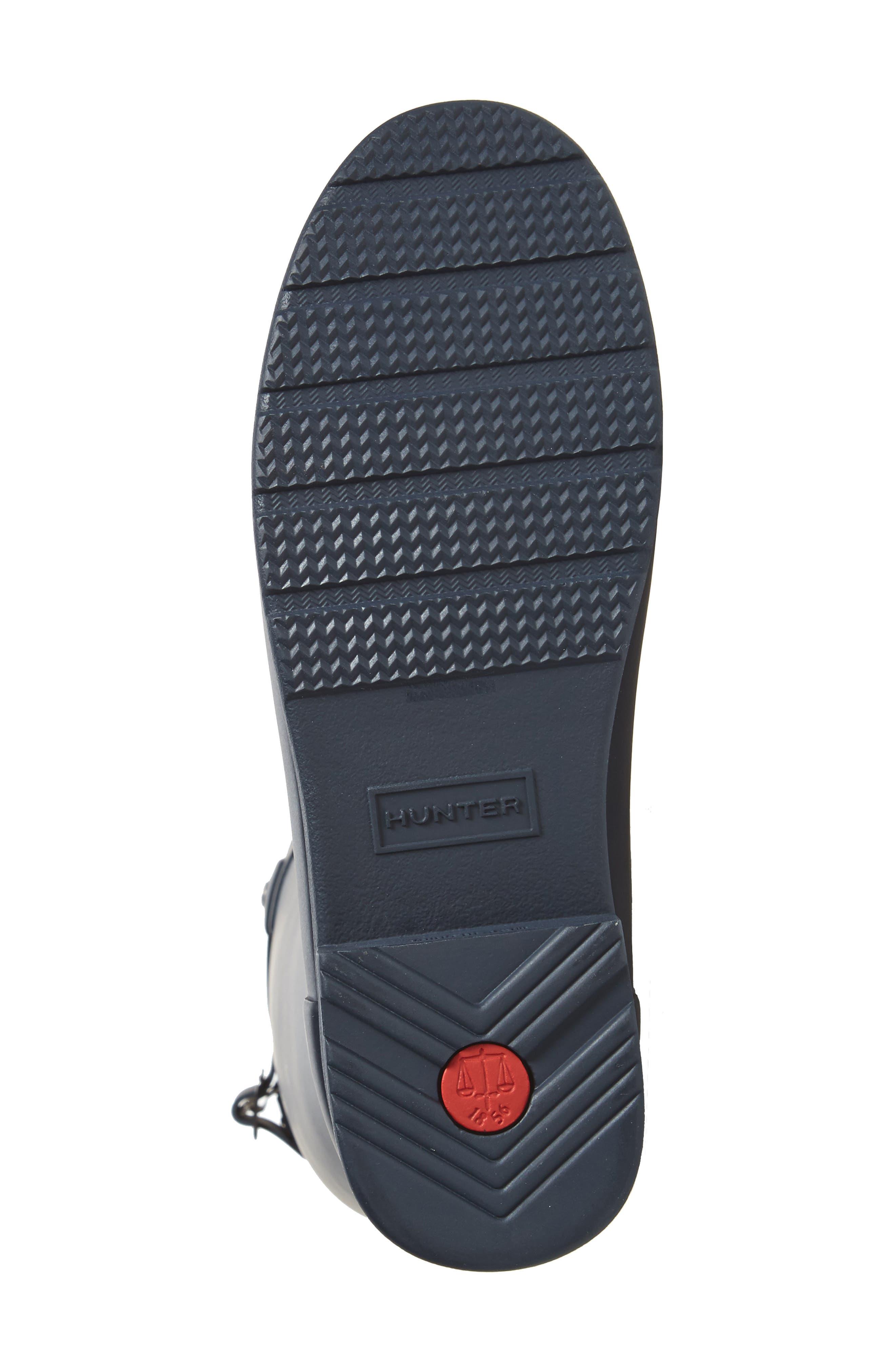HUNTER, Original Refined Waterproof Rain Boot, Alternate thumbnail 6, color, NAVY