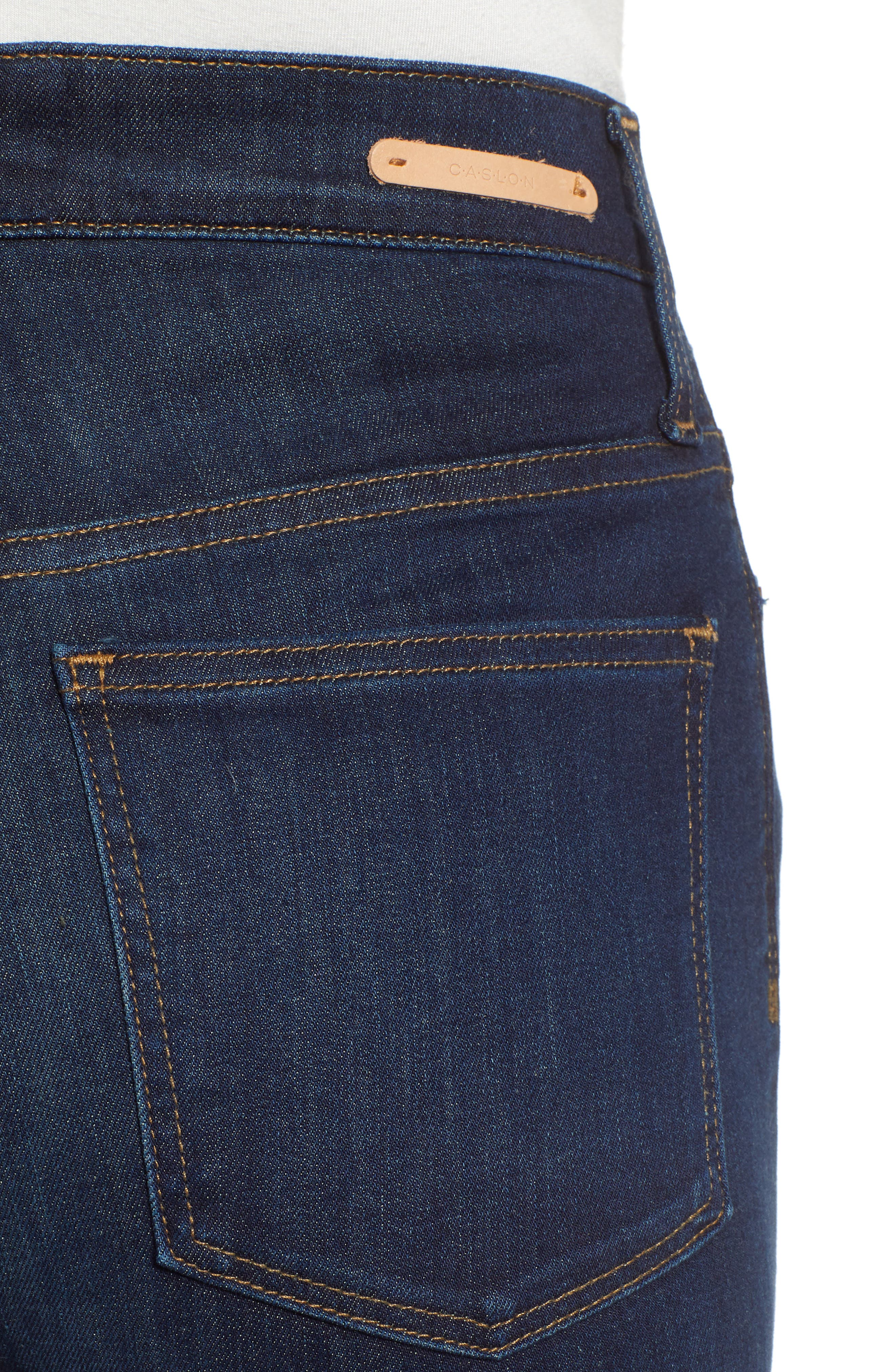 CASLON<SUP>®</SUP>, Sierra High Waist Skinny Jeans, Alternate thumbnail 5, color, 420