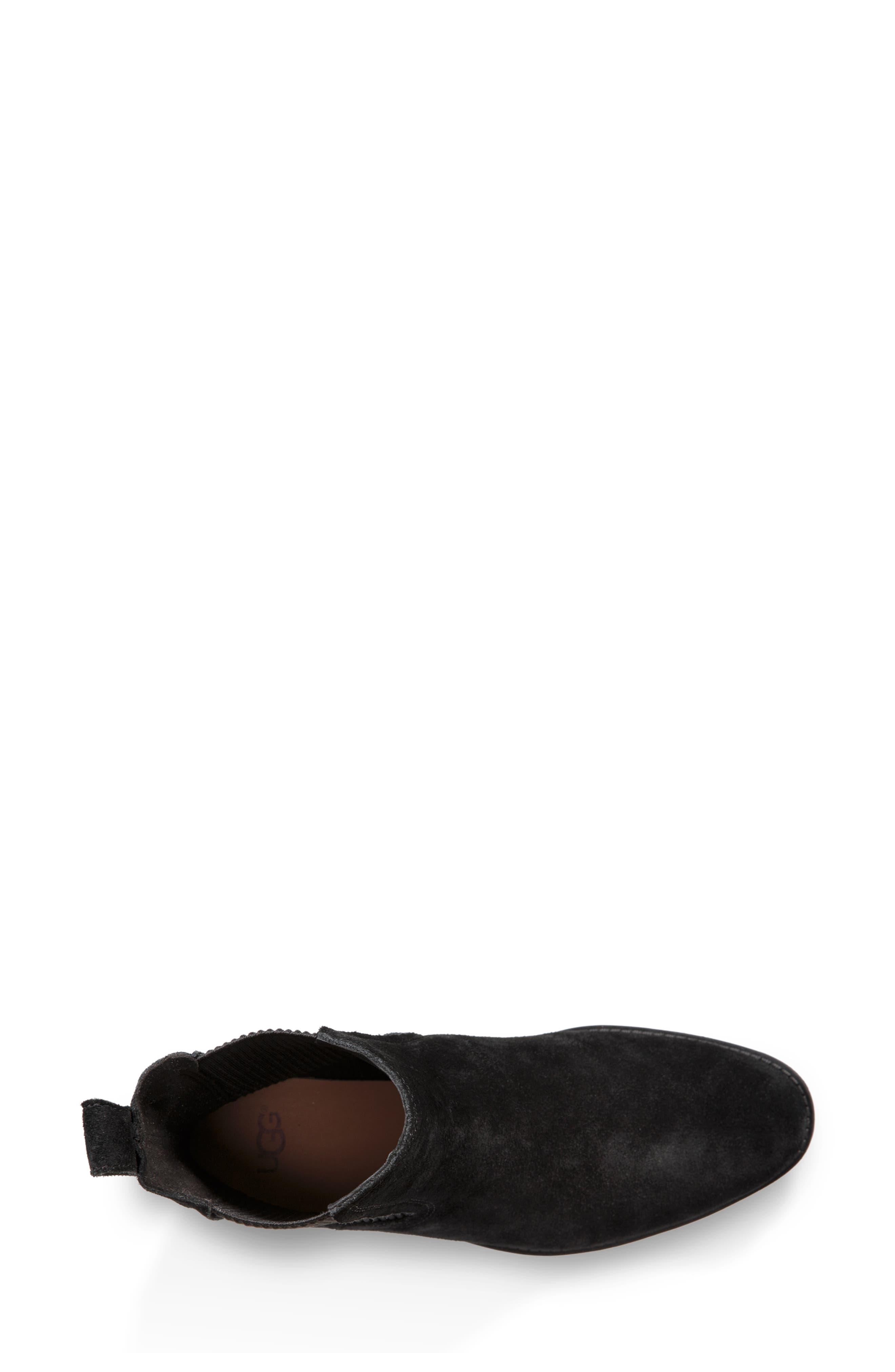 UGG<SUP>®</SUP>, Hillhurst Chelsea Boot, Alternate thumbnail 4, color, 001
