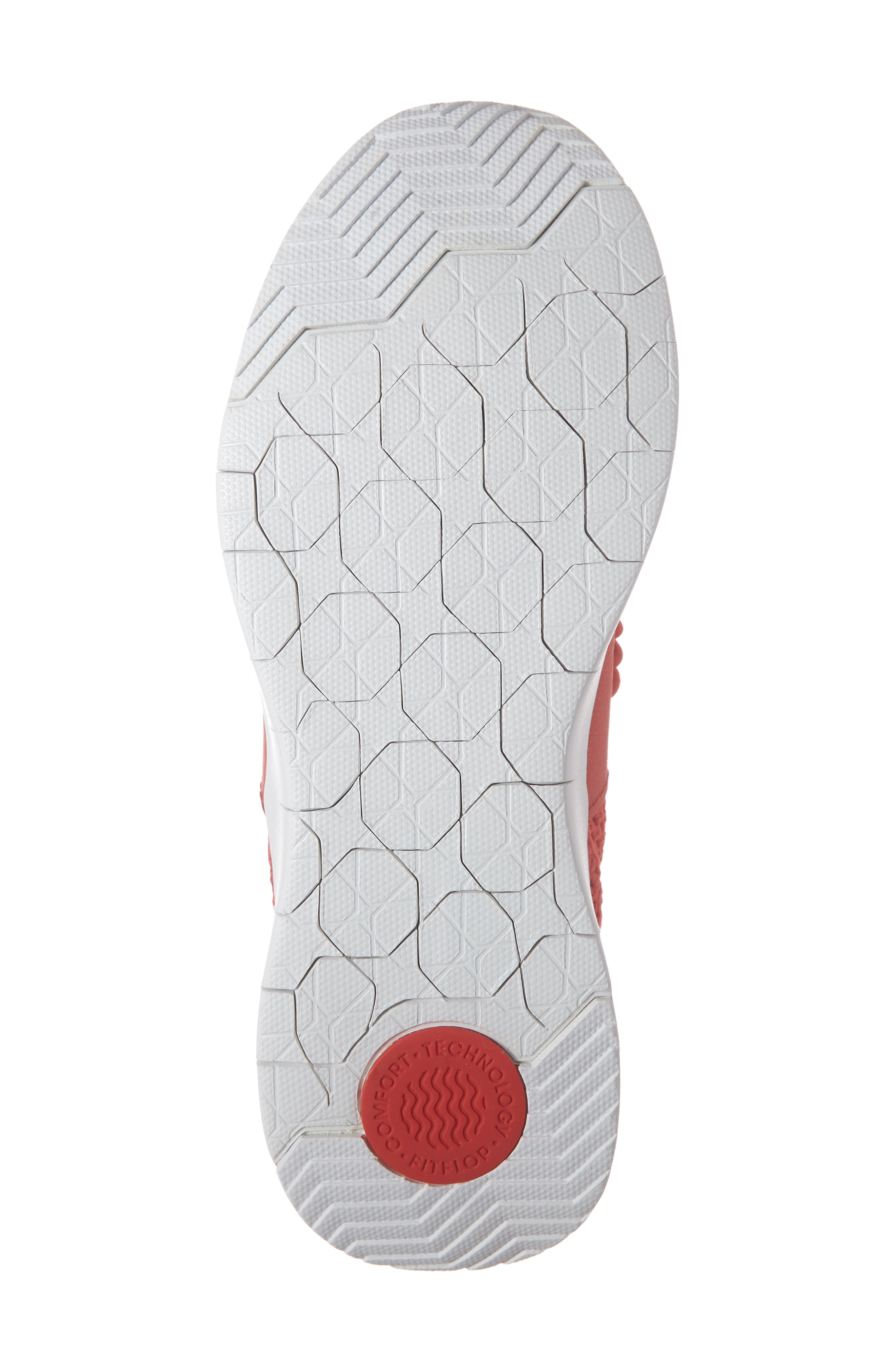 FITFLOP, Airmesh Sneaker, Alternate thumbnail 6, color, PASSION RED