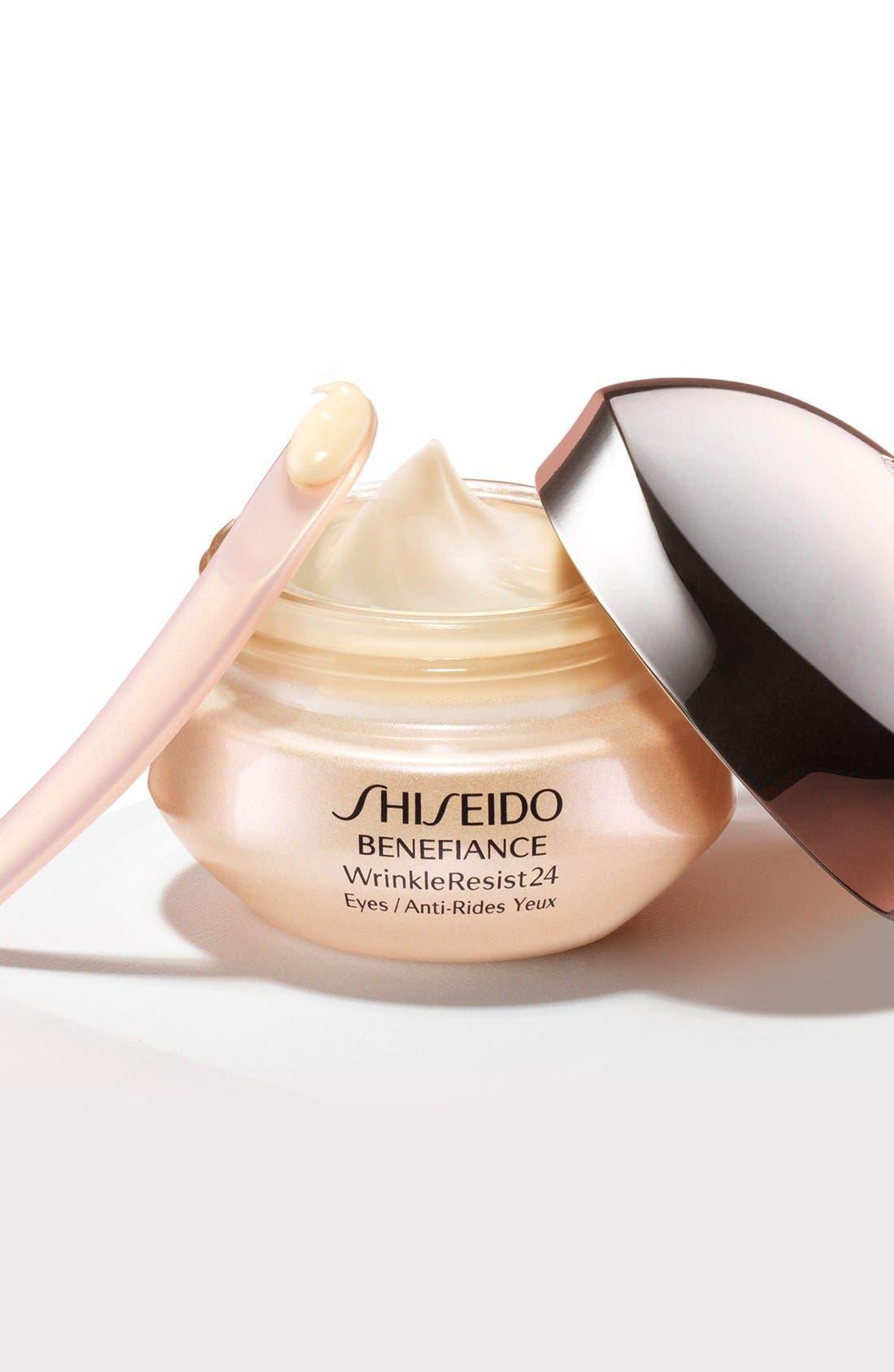 SHISEIDO, Benefiance WrinkleResist24 Intensive Eye Contour Cream, Alternate thumbnail 6, color, NO COLOR