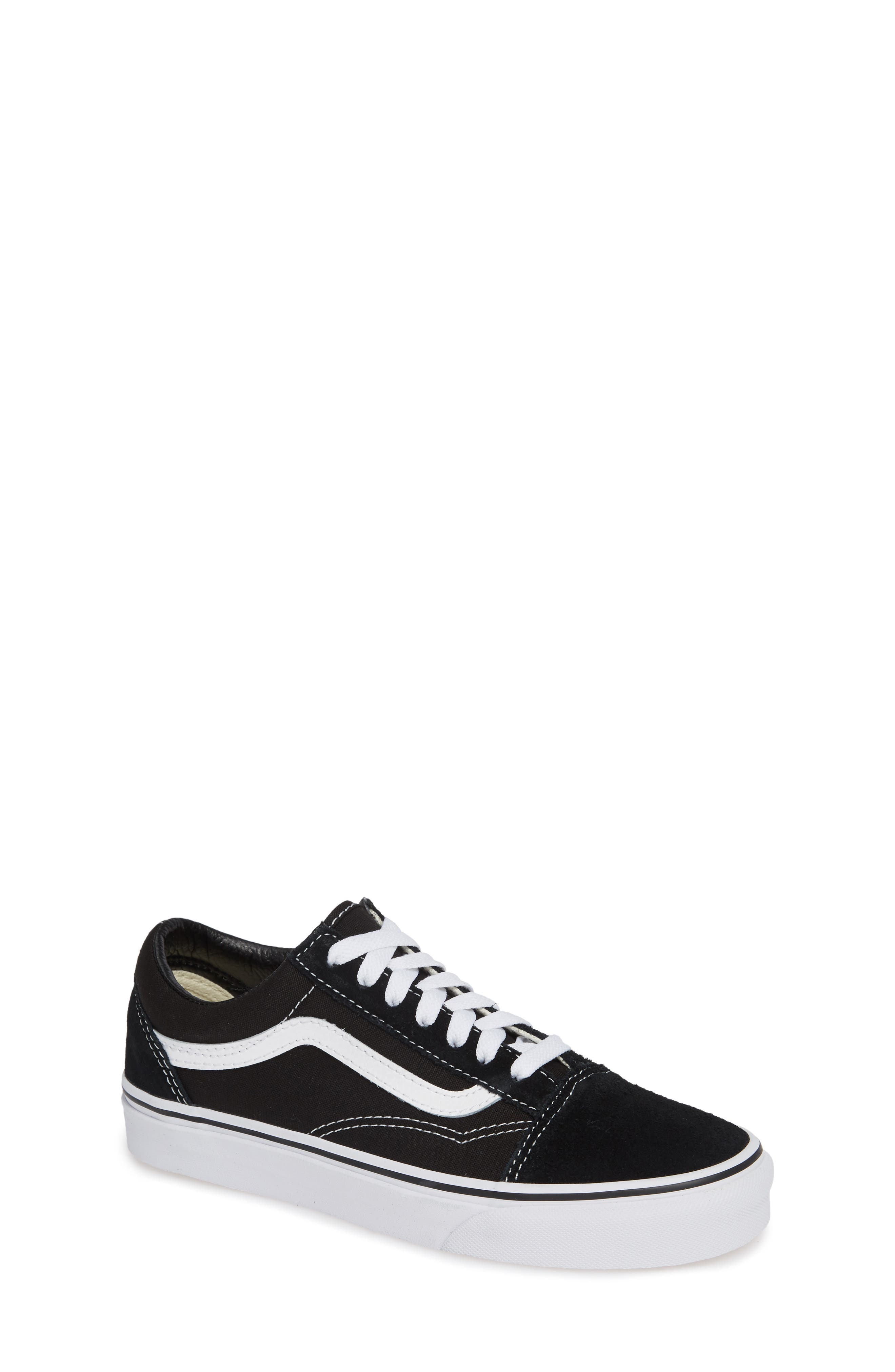 VANS, 'Old Skool' Skate Sneaker, Main thumbnail 1, color, BLACK/ WHITE SUEDE CANVAS
