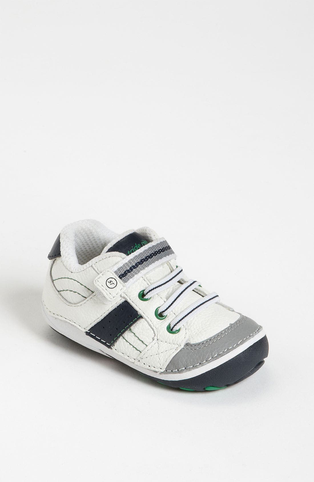 STRIDE RITE, 'Arte' Sneaker, Main thumbnail 1, color, WHITE/ NAVY