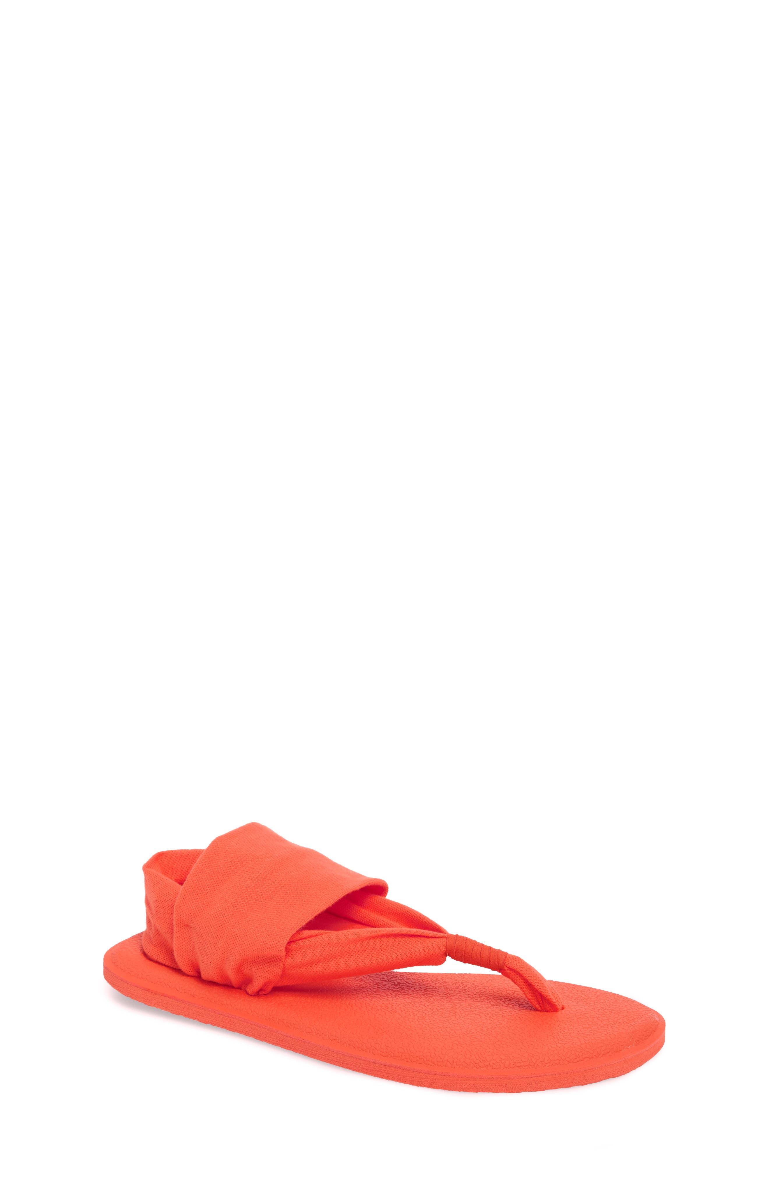 SANUK 'Yoga Sling Burst' Sandal, Main, color, NASTURIUM