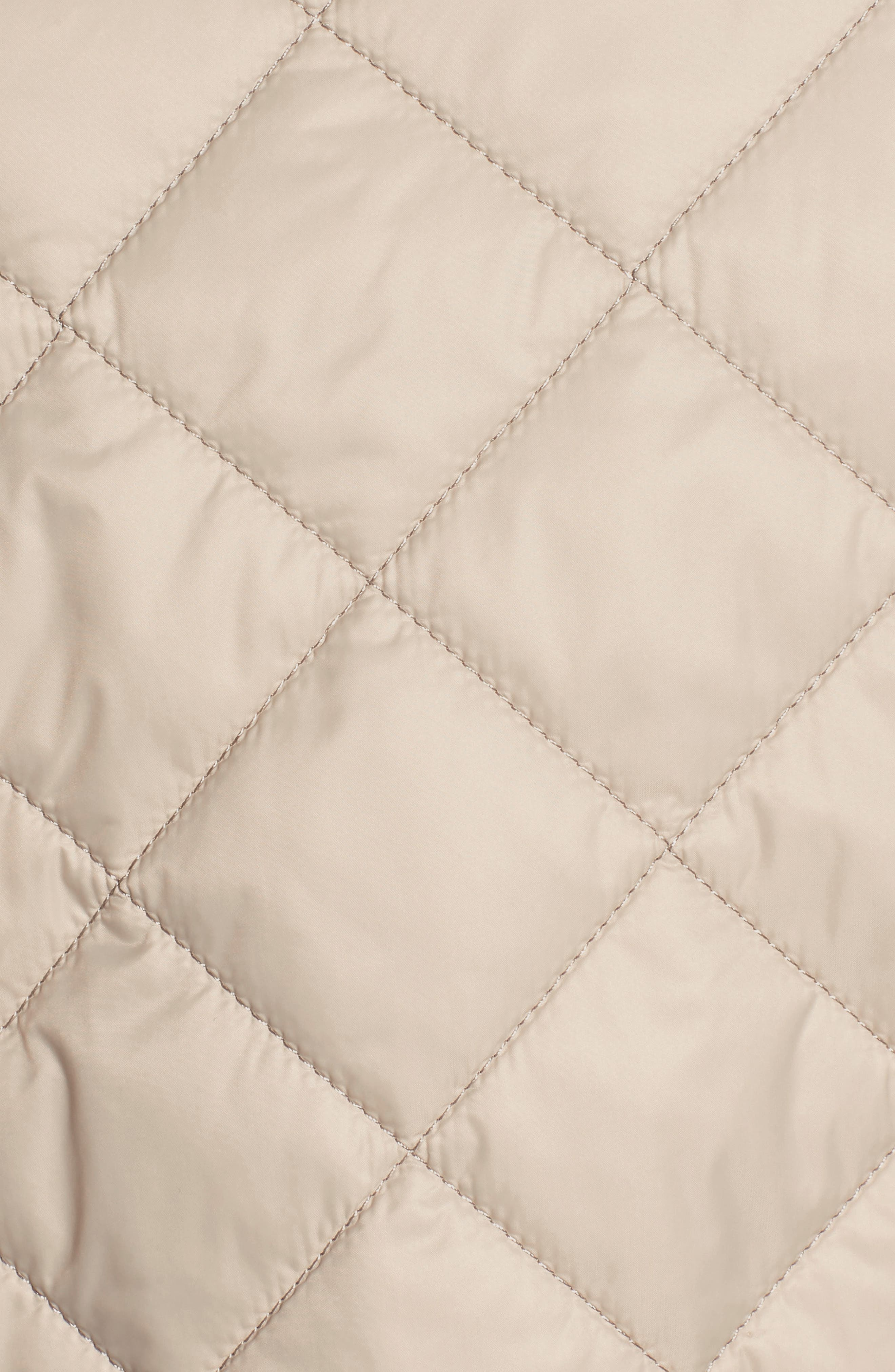 BARBOUR, x Liberty Evelyn Quilted Jacket, Alternate thumbnail 7, color, MIST/ MORRIS BUTTERFLY
