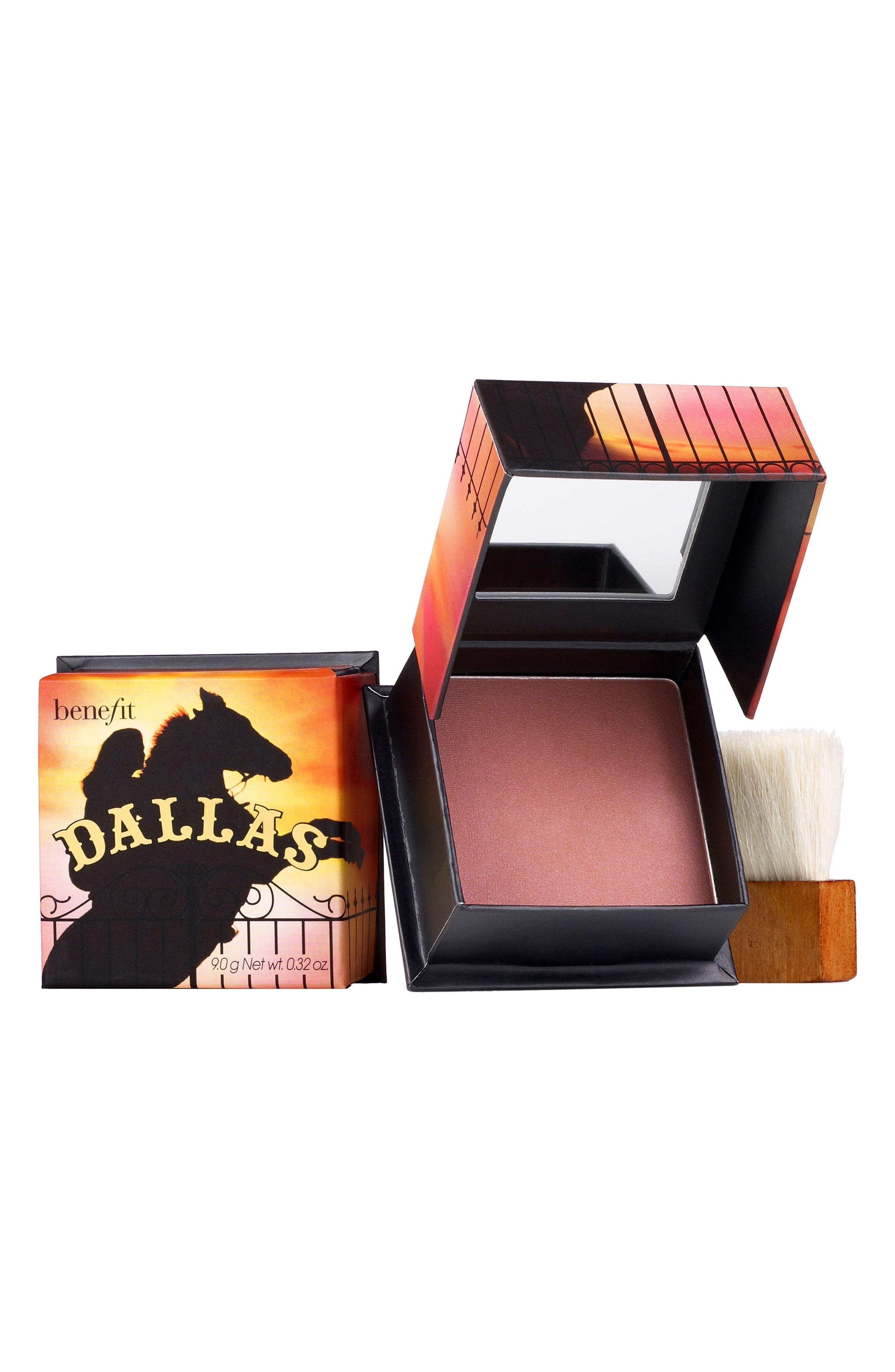 BENEFIT COSMETICS, Benefit Dallas Dusty Rose Powder Blush, Main thumbnail 1, color, DUSTY ROSE