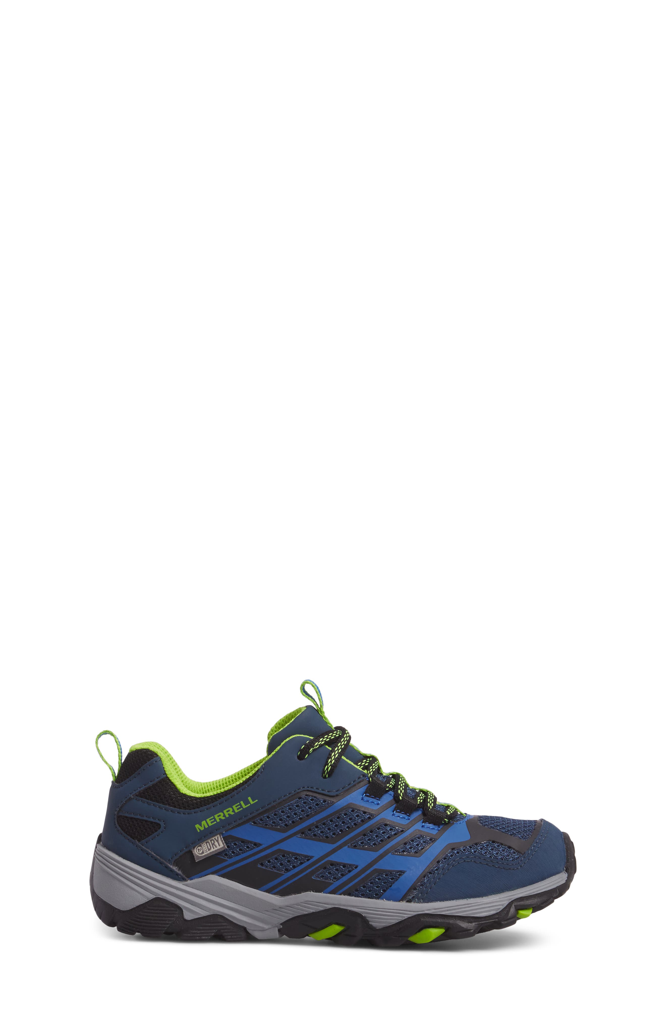 MERRELL, Moab FST Polar Low Waterproof Sneaker, Alternate thumbnail 3, color, NAVY/ BLUE
