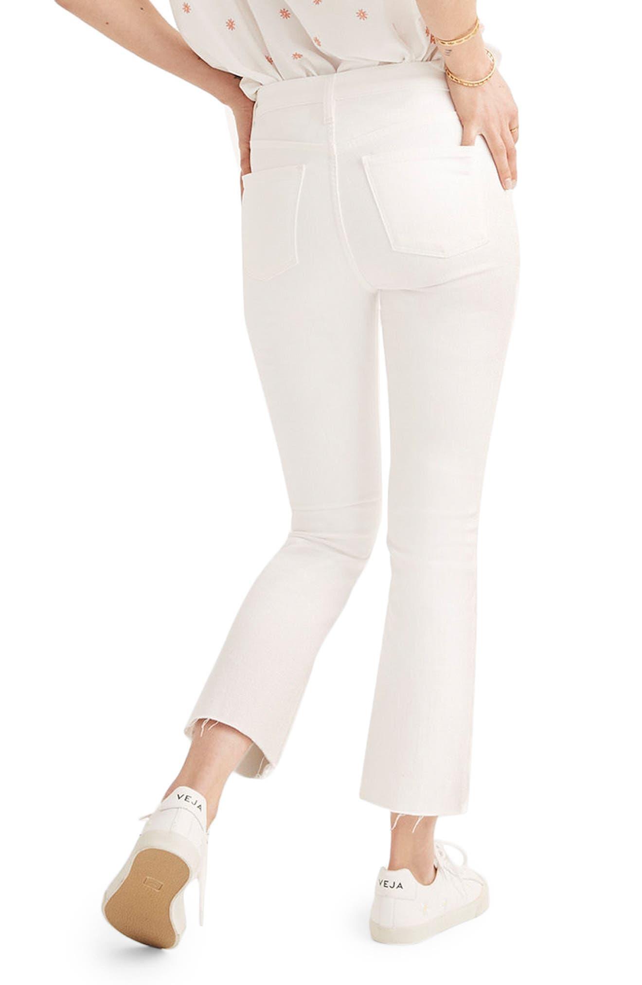 MADEWELL, Cali Raw Edge Demi Boot Jeans, Alternate thumbnail 4, color, PURE WHITE