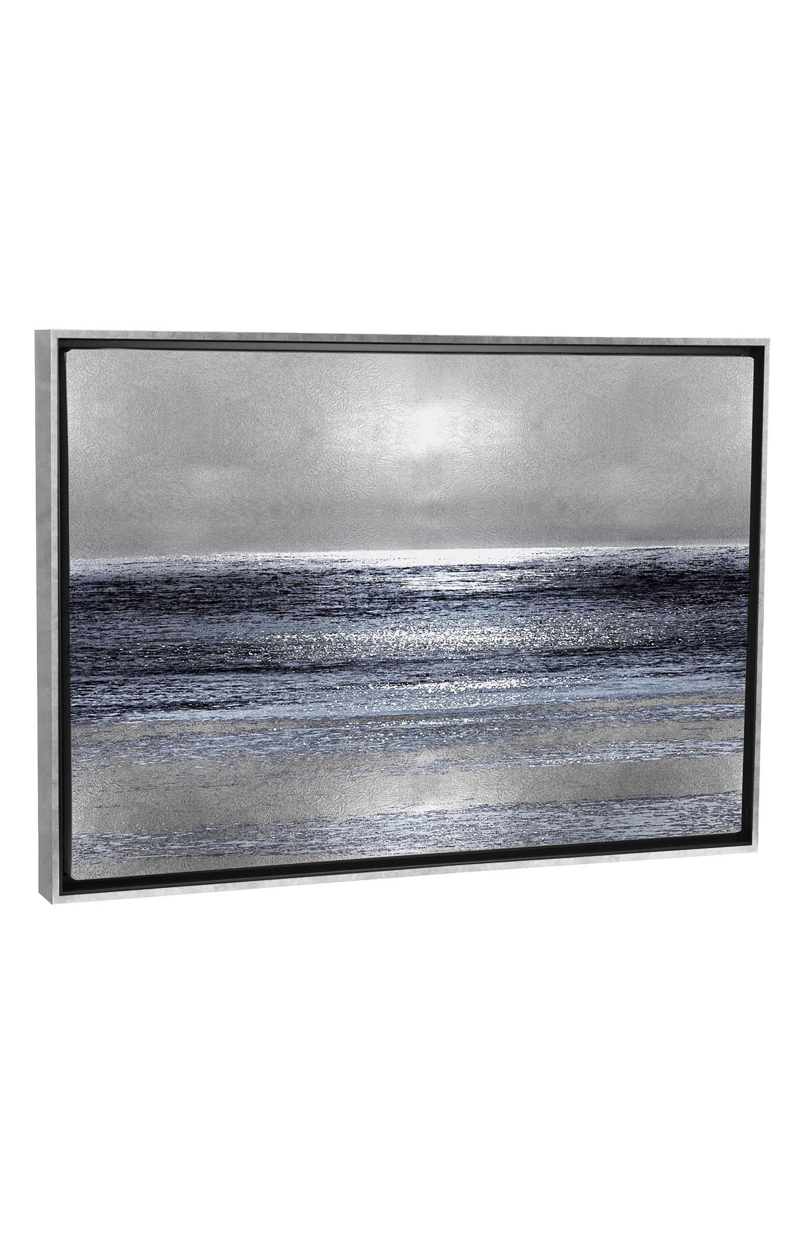 ICANVAS, Silver Seascape III by Michelle Matthews Print Canvas Art, Main thumbnail 1, color, WHITE