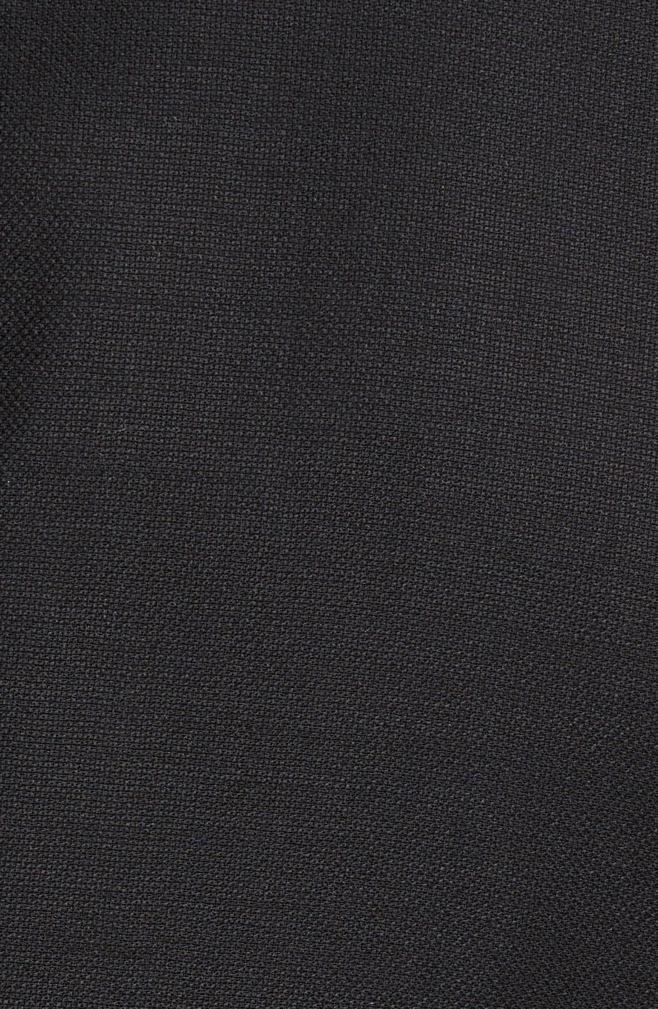 PETER MILLAR, Flynn Classic Fit Wool Blazer, Alternate thumbnail 6, color, BLACK