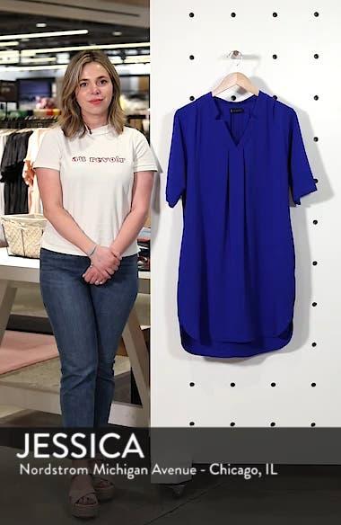 Pleat Front Curved Hem Shirtdress, sales video thumbnail