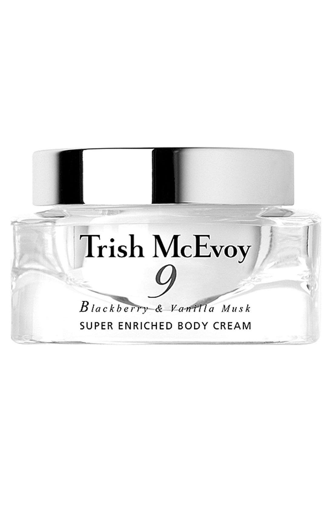 TRISH MCEVOY, No. 9 Blackberry & Vanilla Musk Super Enriched Body Cream, Main thumbnail 1, color, 000