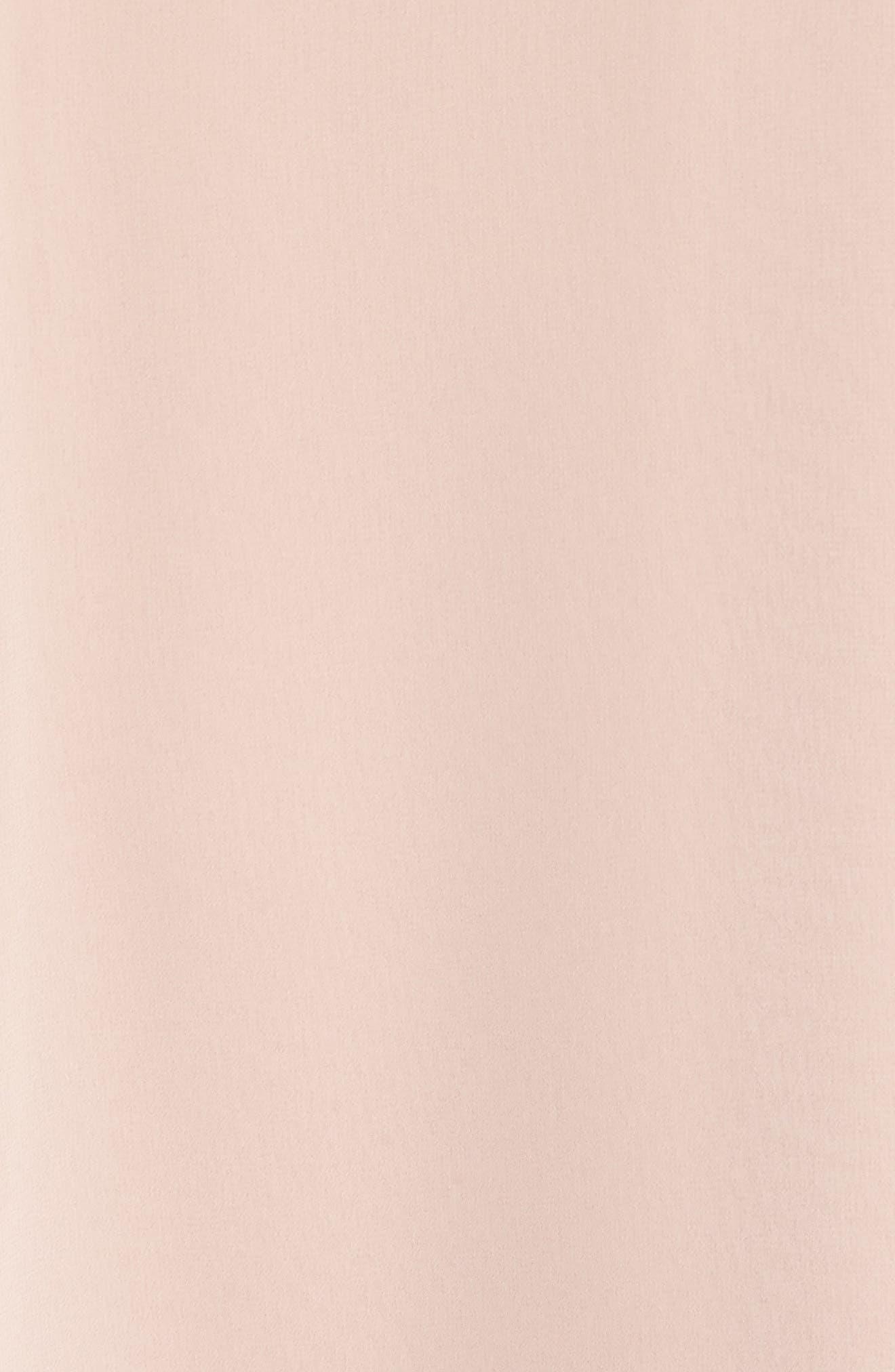 XSCAPE, Beaded Neck Chiffon Overlay Dress, Alternate thumbnail 6, color, BLUSH/ SILVER