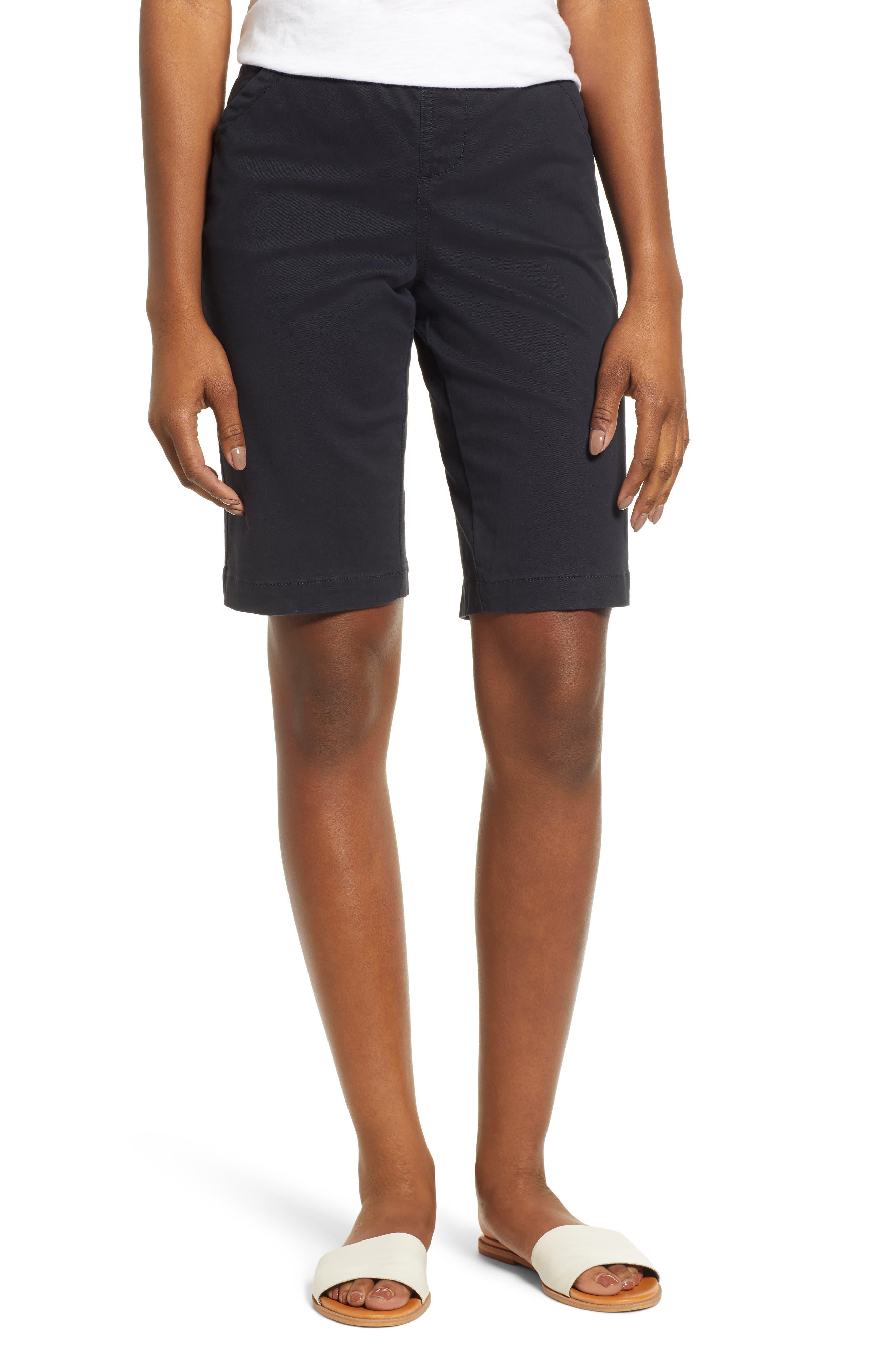 JAG JEANS Gracie Bermuda Shorts, Main, color, BLACK