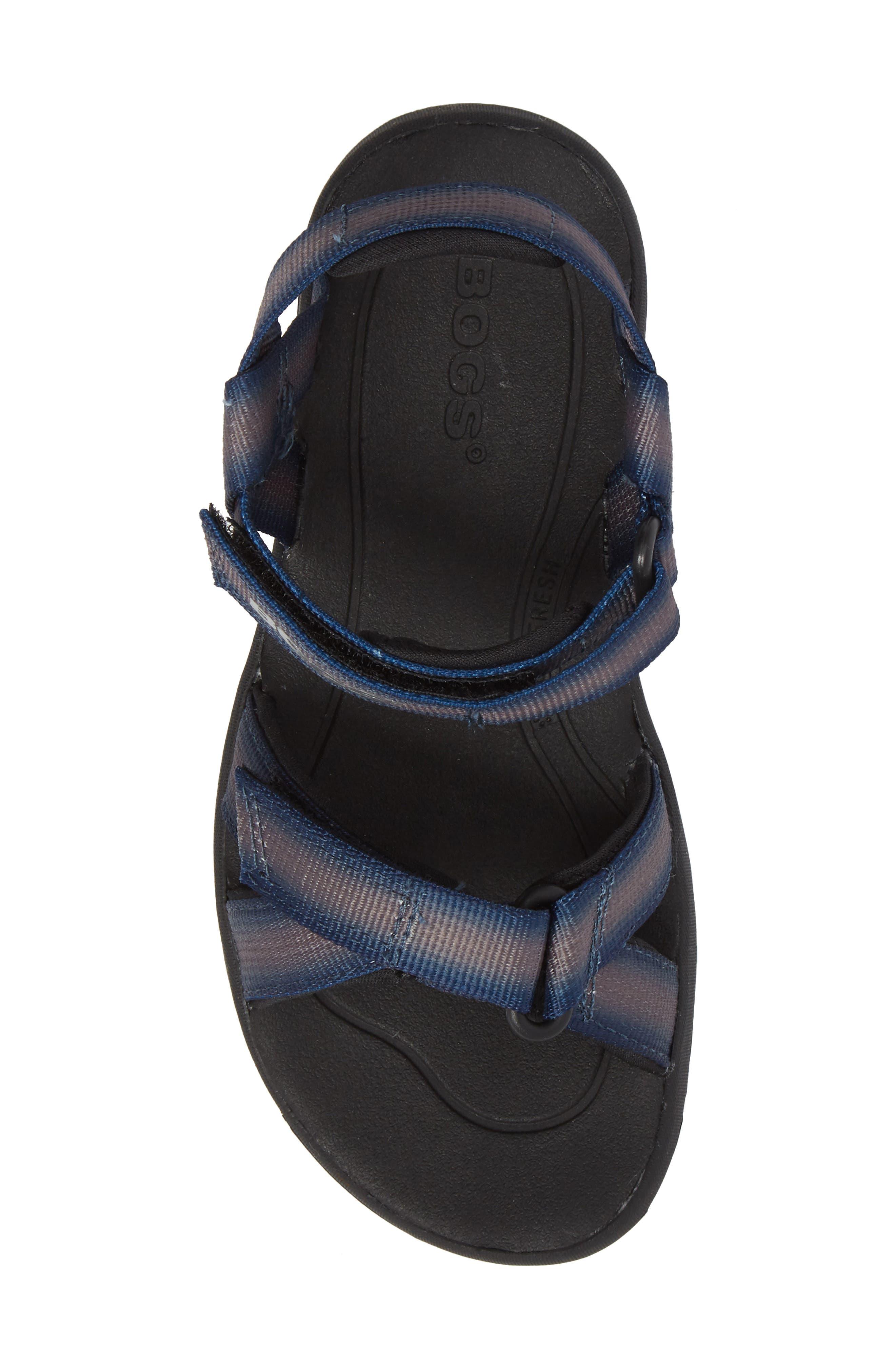 BOGS, Rio Sunrise Stripe Sandal, Alternate thumbnail 5, color, 062