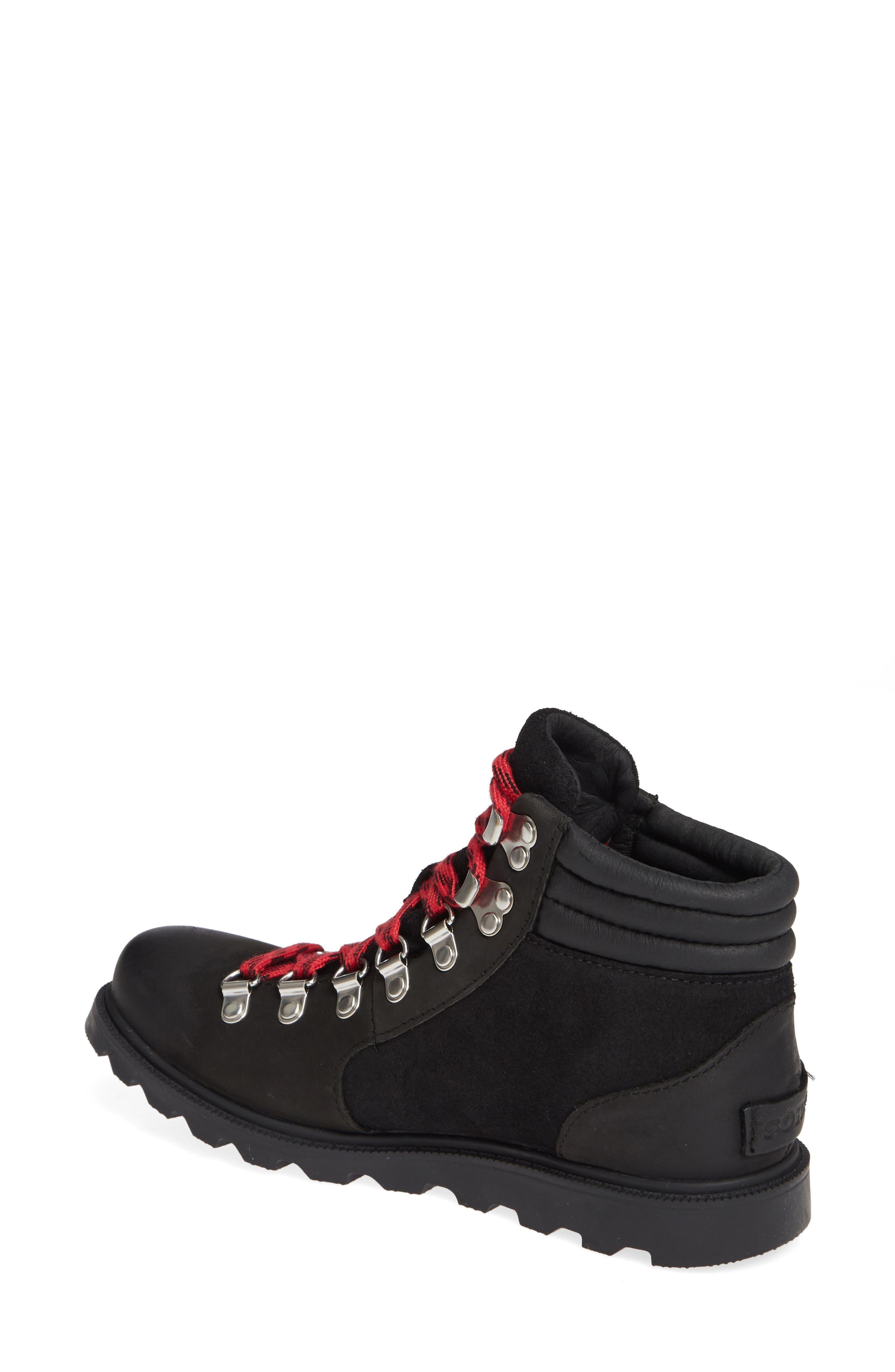 SOREL, Ainsley Conquest Waterproof Boot, Alternate thumbnail 2, color, BLACK/ BLACK