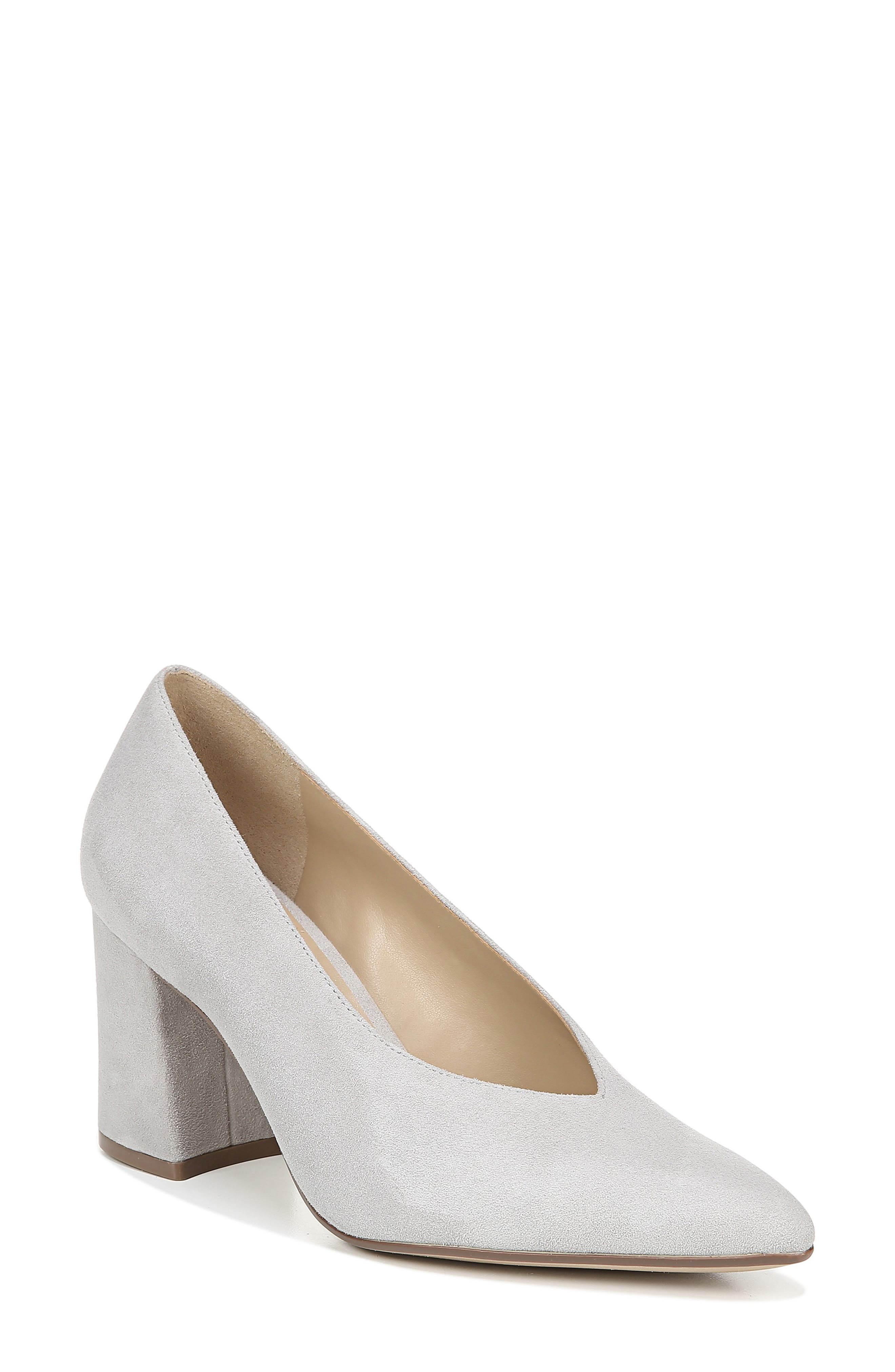 NATURALIZER, Hope Pointy Toe Pump, Main thumbnail 1, color, ICY GREY SUEDE