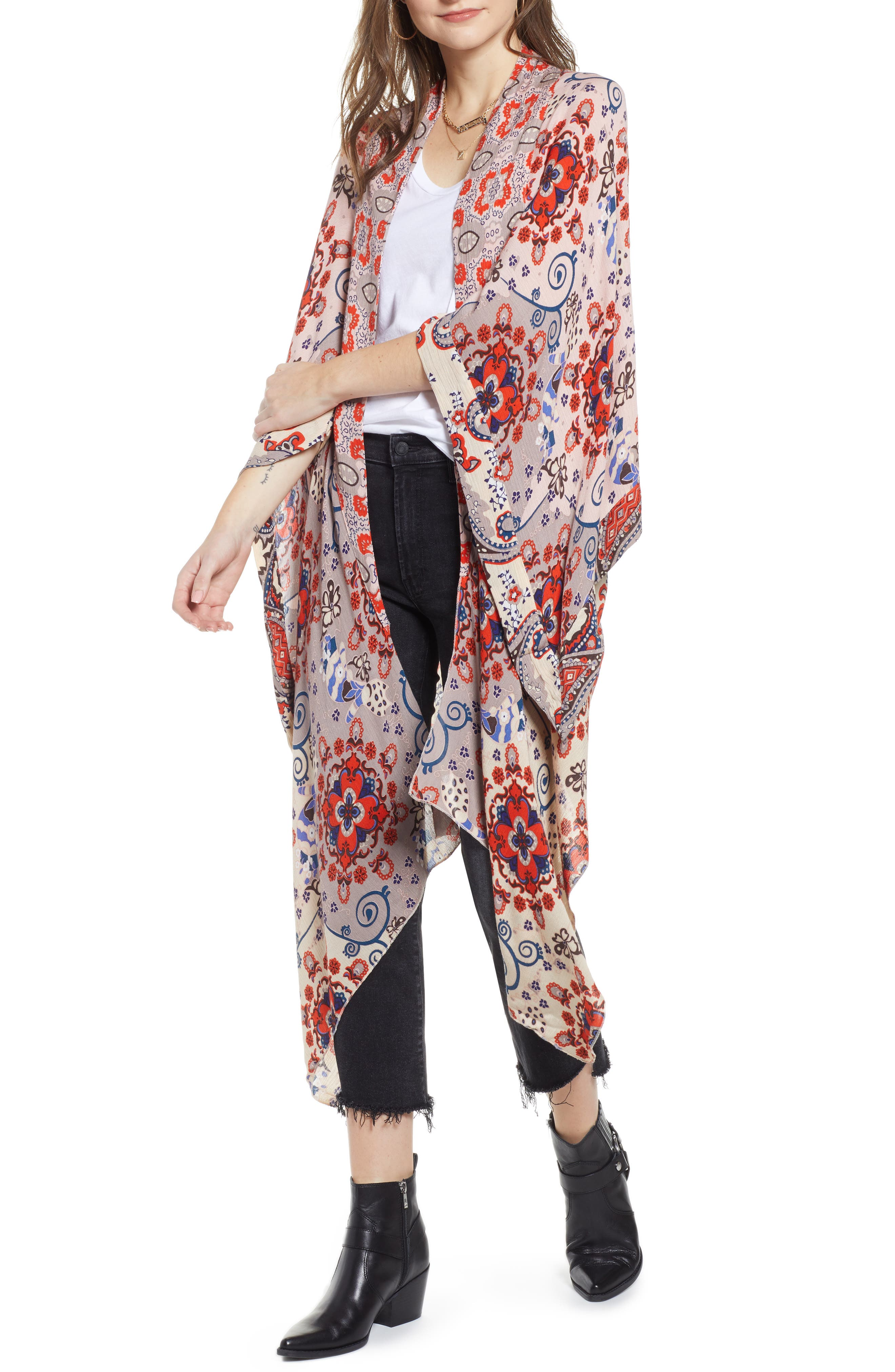 FREE PEOPLE Little Wing Kimono, Main, color, NEUTRAL