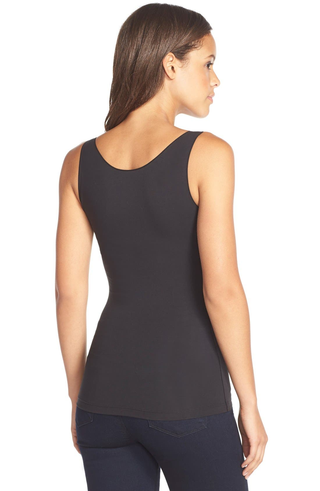 SPANX<SUP>®</SUP>, In & Out Tank, Alternate thumbnail 7, color, VERY BLACK