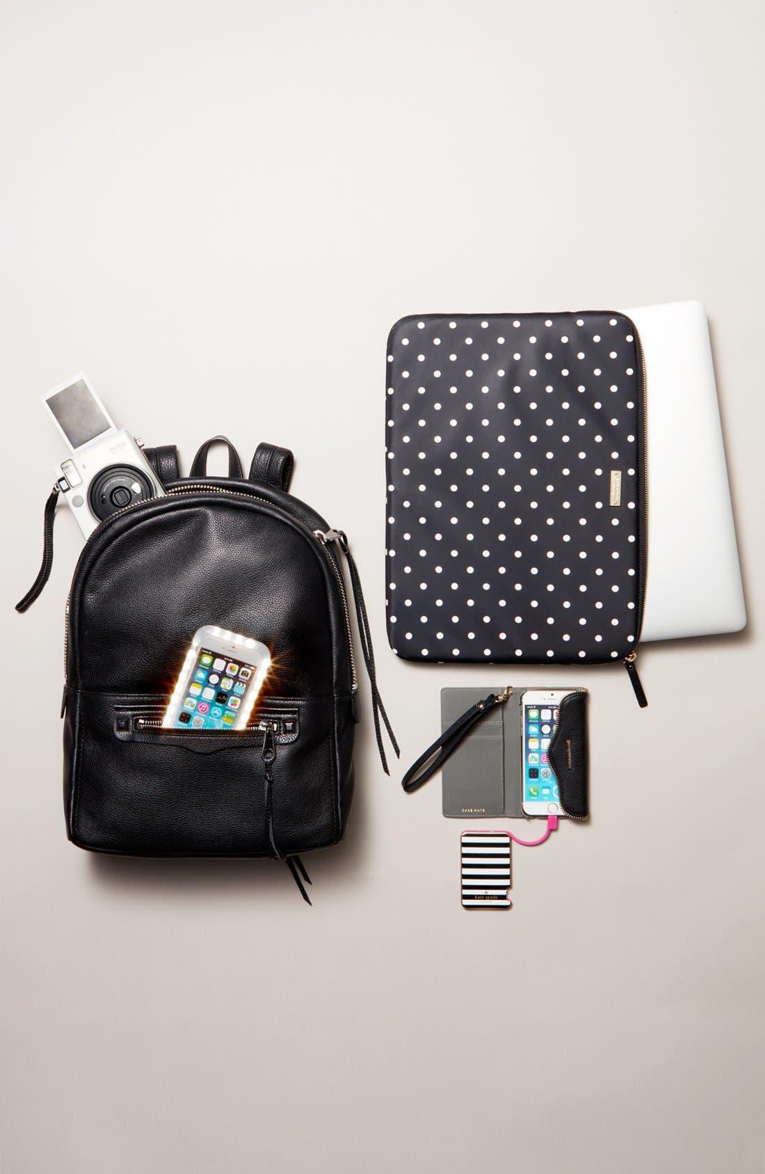 KATE SPADE NEW YORK, katespade new yorkslim portable charger, Alternate thumbnail 2, color, 001